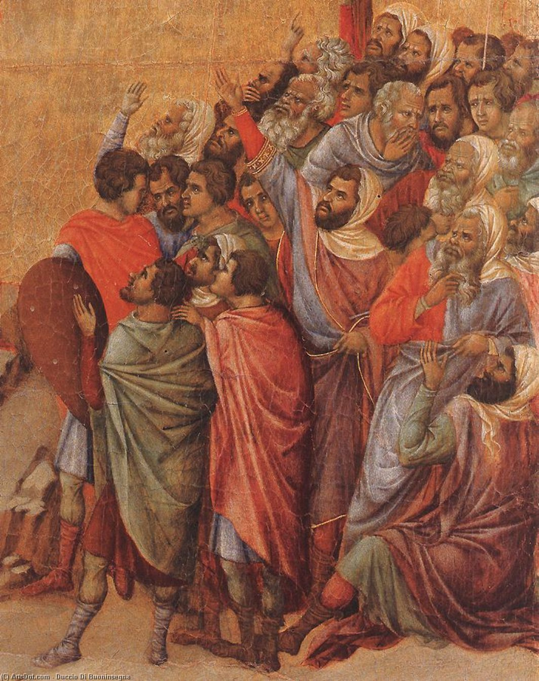 Wikioo.org - The Encyclopedia of Fine Arts - Painting, Artwork by Duccio Di Buoninsegna - Crucifix (detail)