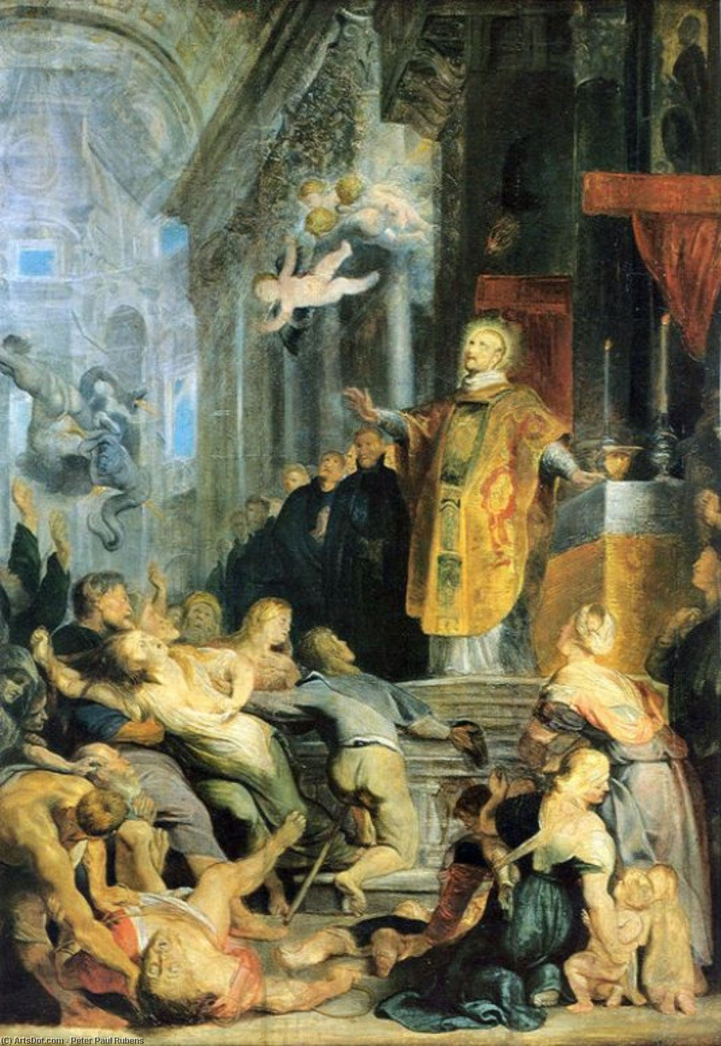 Wikioo.org - The Encyclopedia of Fine Arts - Painting, Artwork by Peter Paul Rubens - Miracle of St. Ignatius of Loyola