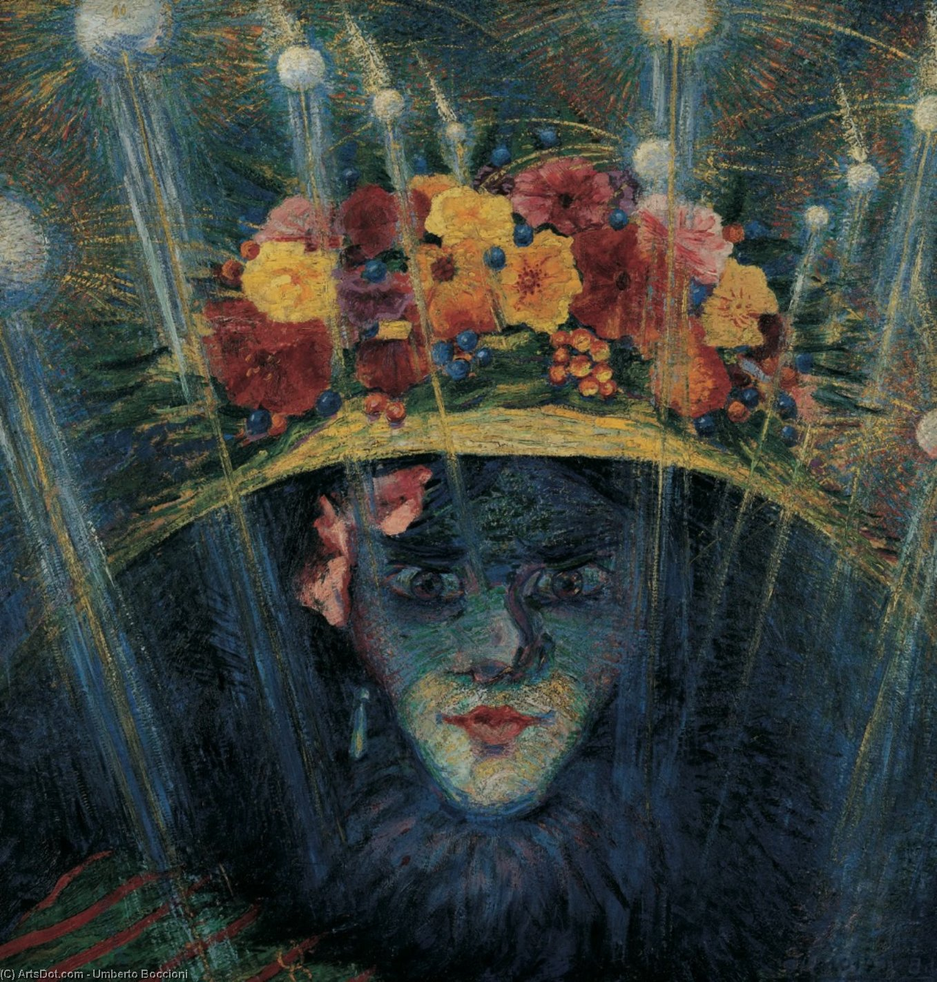Wikioo.org - The Encyclopedia of Fine Arts - Painting, Artwork by Umberto Boccioni - Modern Idol