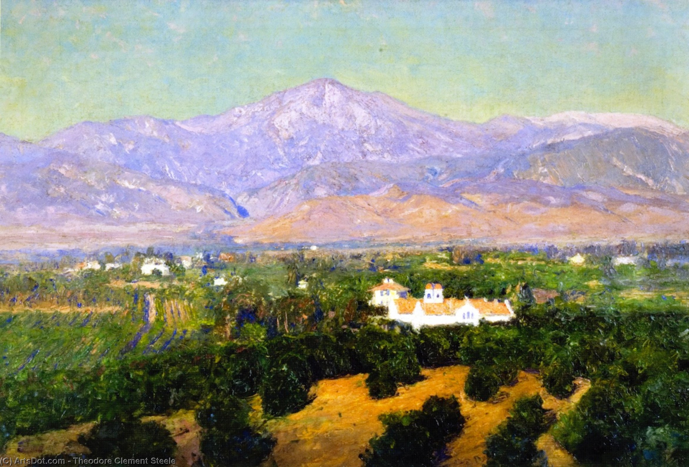 Wikioo.org - The Encyclopedia of Fine Arts - Painting, Artwork by Theodore Clement Steele - Mount San Bernardino, from Smiley's Heights, Redlands