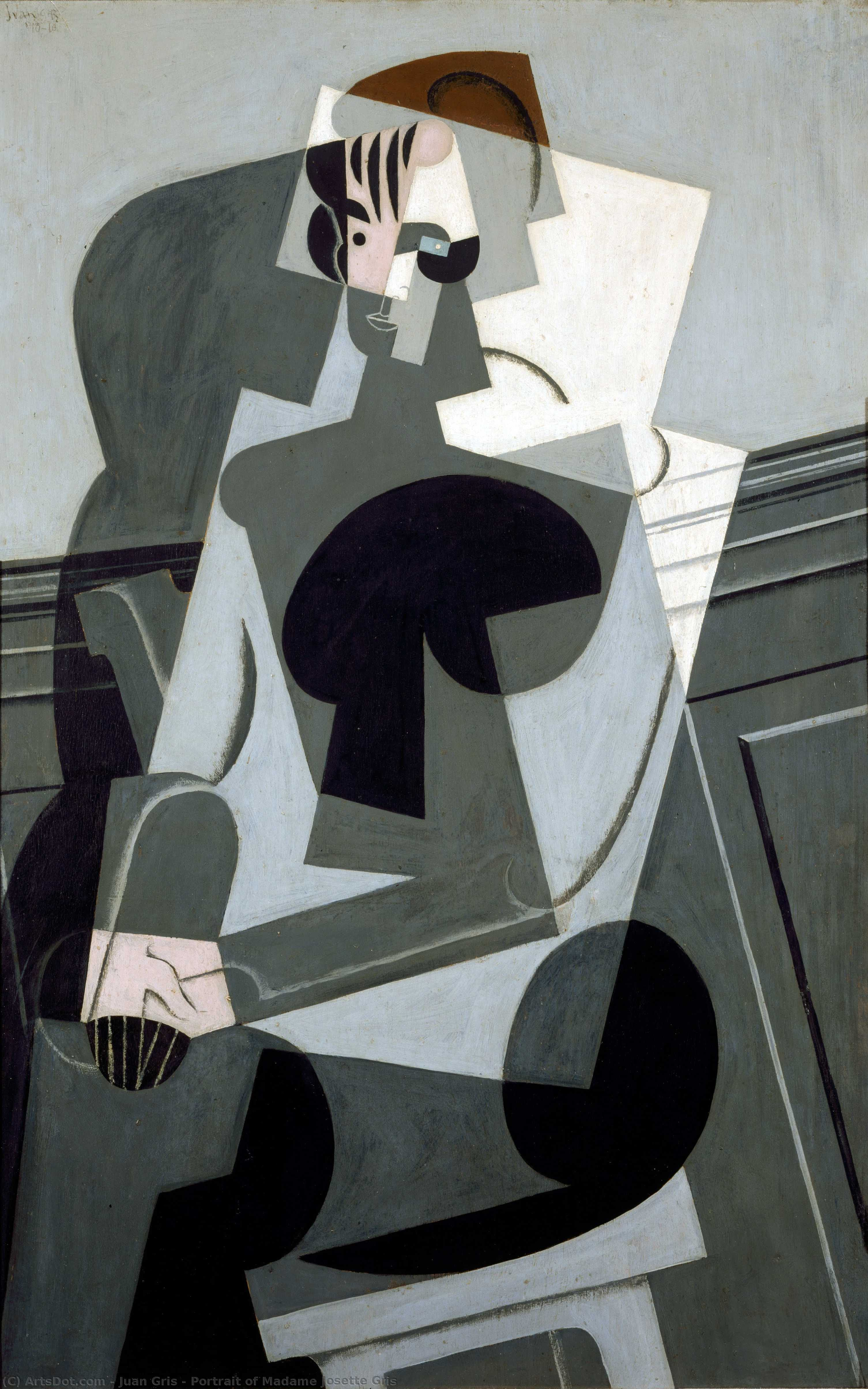 Wikioo.org - The Encyclopedia of Fine Arts - Painting, Artwork by Juan Gris - Portrait of Madame Josette Gris