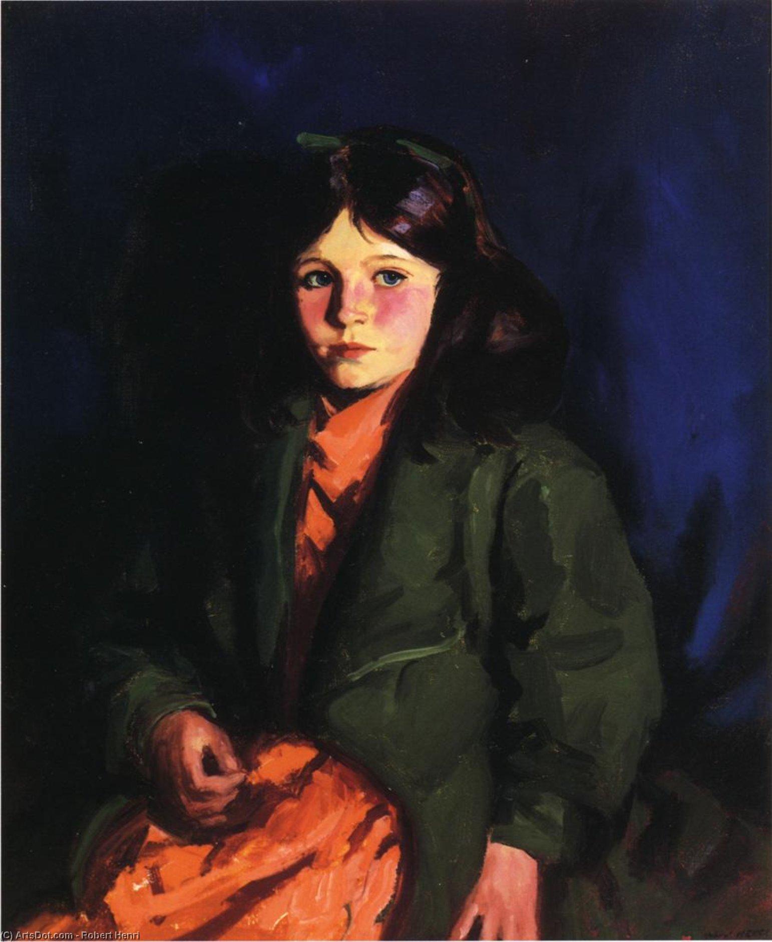 Wikioo.org – L'Enciclopedia delle Belle Arti - Pittura, Opere di Robert Henri - Ritratto Maria Patten