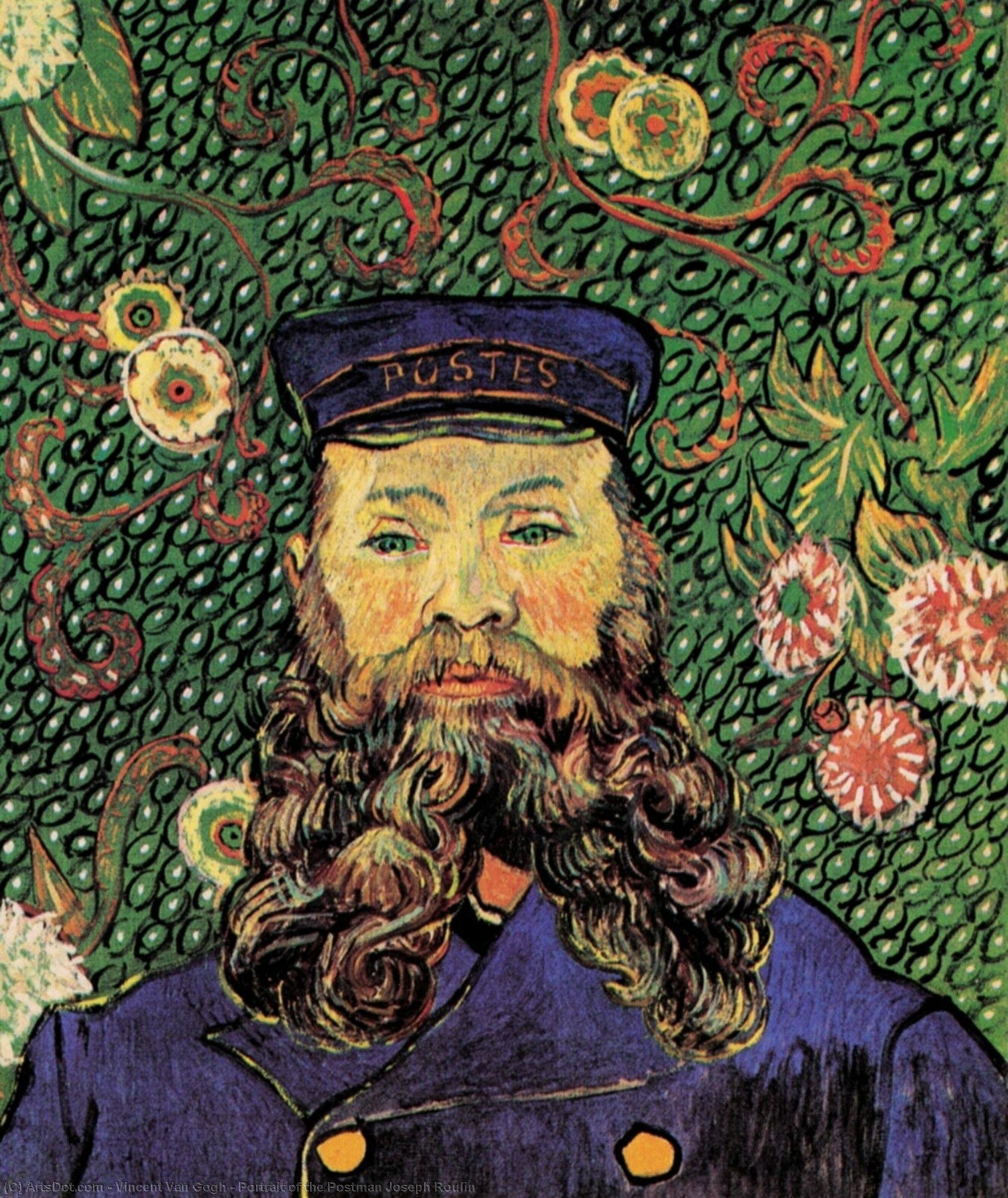 Wikioo.org - The Encyclopedia of Fine Arts - Painting, Artwork by Vincent Van Gogh - Portrait of the Postman Joseph Roulin