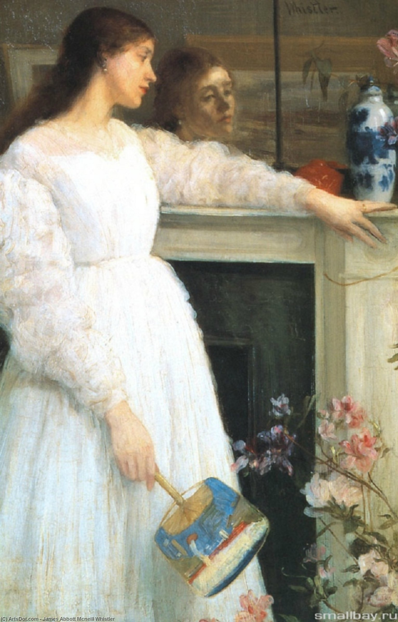 Wikioo.org - The Encyclopedia of Fine Arts - Painting, Artwork by James Abbott Mcneill Whistler - Symphony in White, No. 2: The Little White Girl