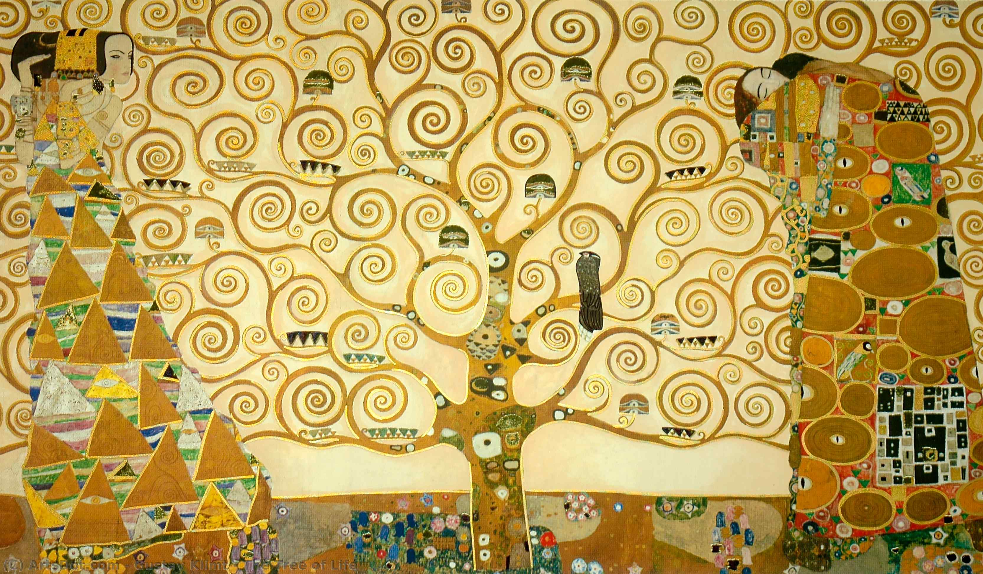 Wikioo.org - The Encyclopedia of Fine Arts - Painting, Artwork by Gustav Klimt - The Tree of Life