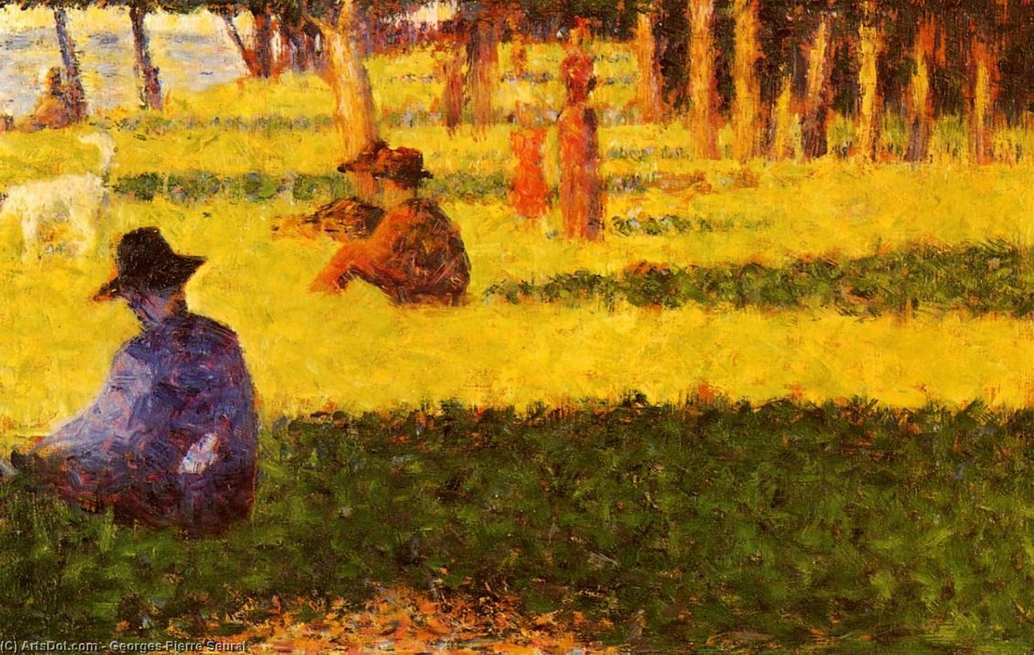 Wikioo.org - The Encyclopedia of Fine Arts - Painting, Artwork by Georges Pierre Seurat - White dog