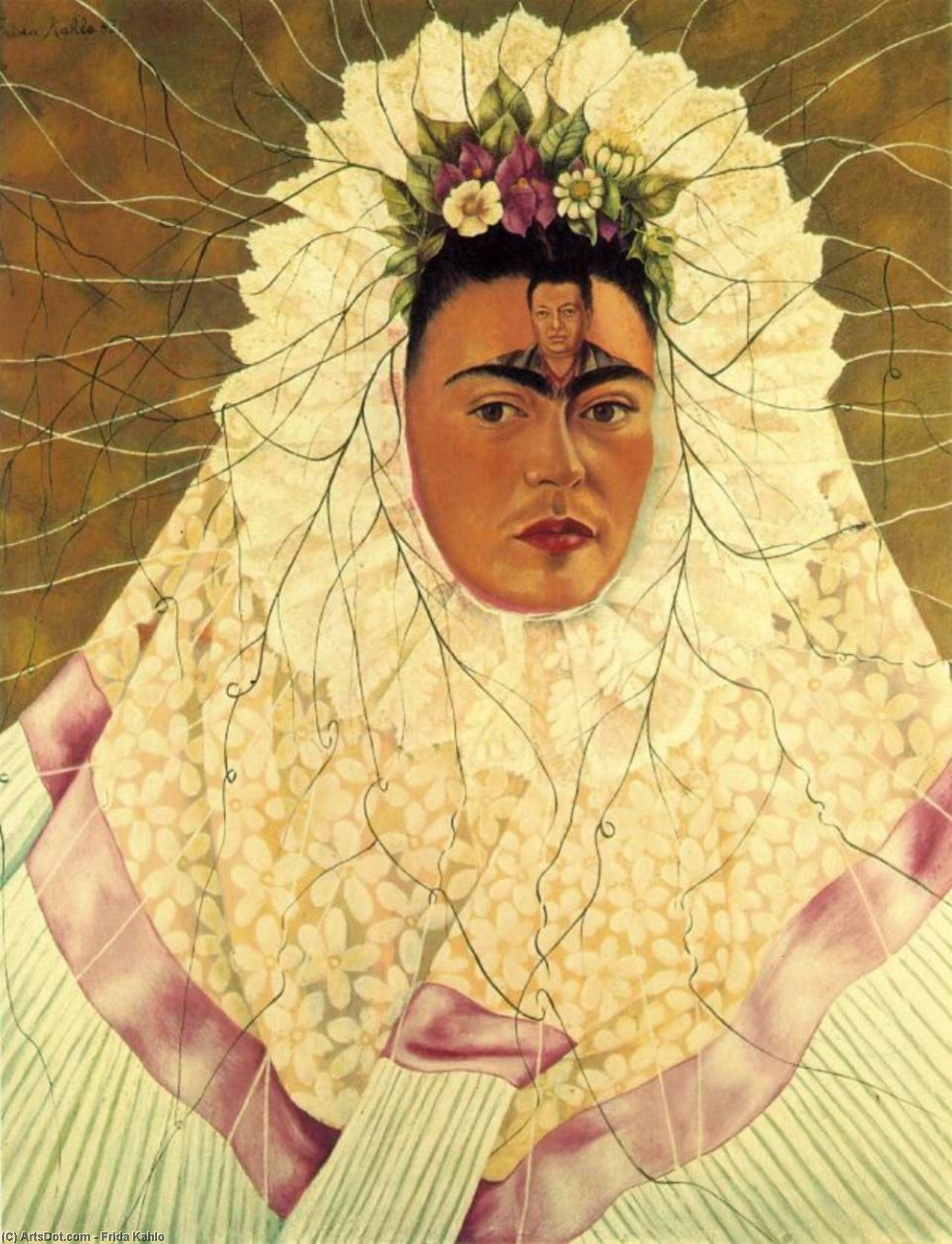 discussion on self portrait as woman recovering Inspiration in visual art: self-portrait with thorn necklace and she spent three months recovering in a body cast and suffered from pain and health problems.