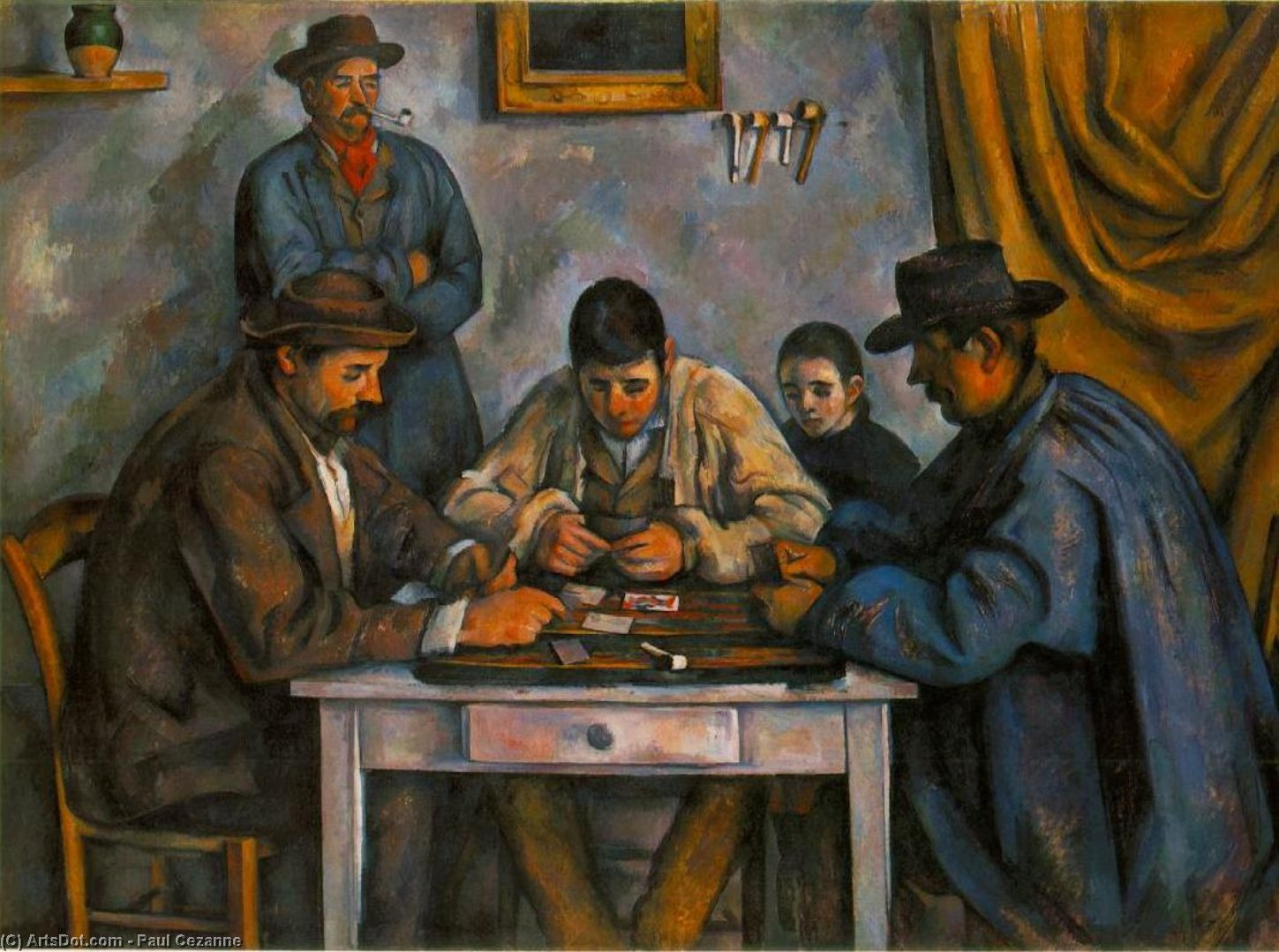 Wikioo.org - The Encyclopedia of Fine Arts - Painting, Artwork by Paul Cezanne - the card players