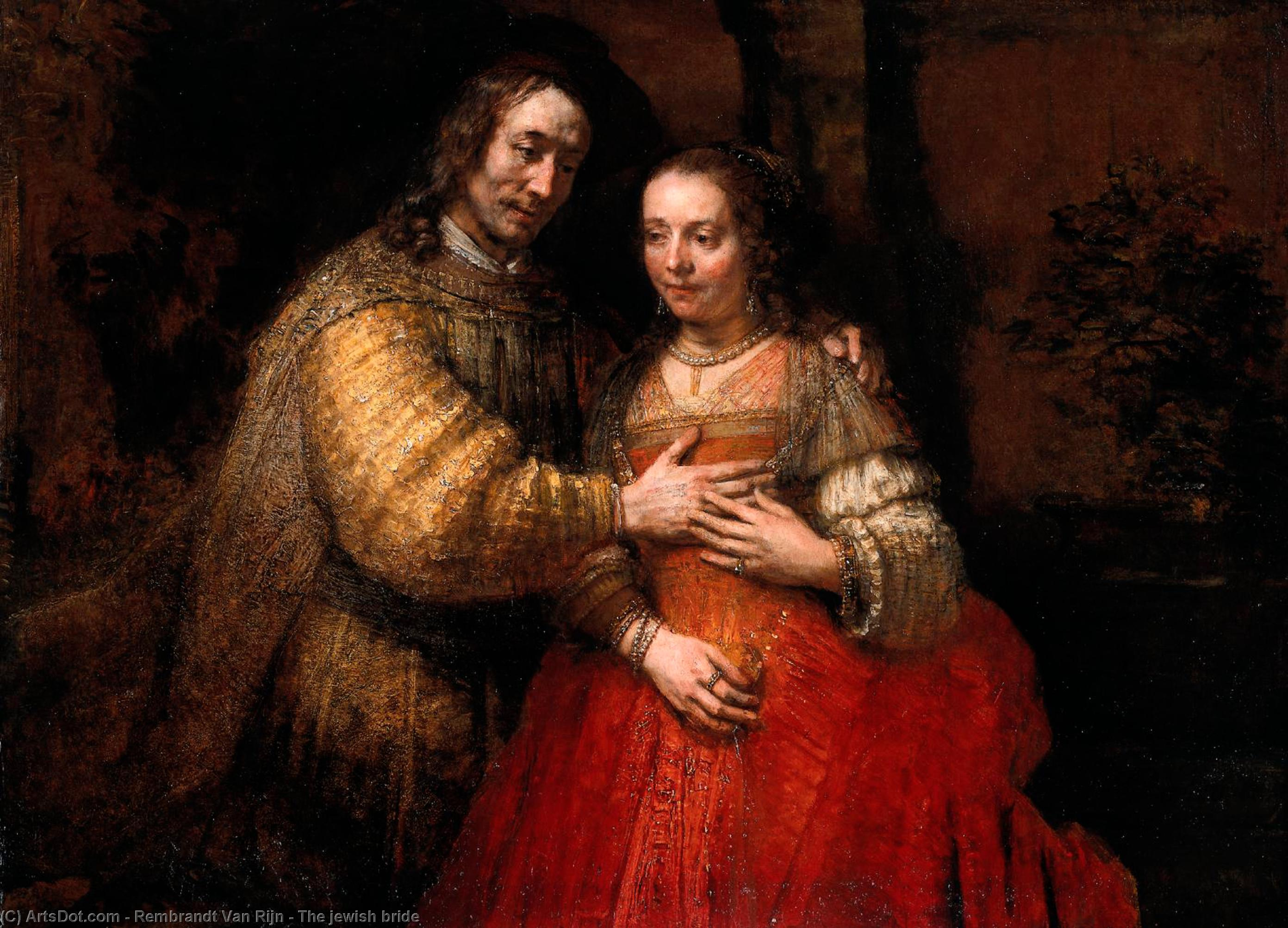 Wikioo.org - The Encyclopedia of Fine Arts - Painting, Artwork by Rembrandt Van Rijn - The jewish bride