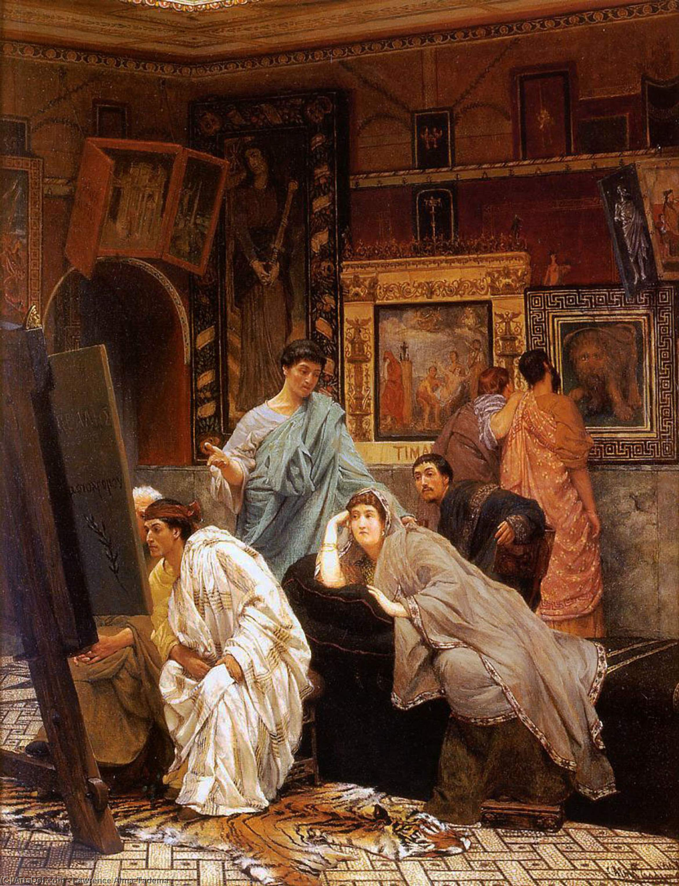 Wikioo.org - The Encyclopedia of Fine Arts - Painting, Artwork by Lawrence Alma-Tadema - A Collection of Pictures at the Time of Augustus