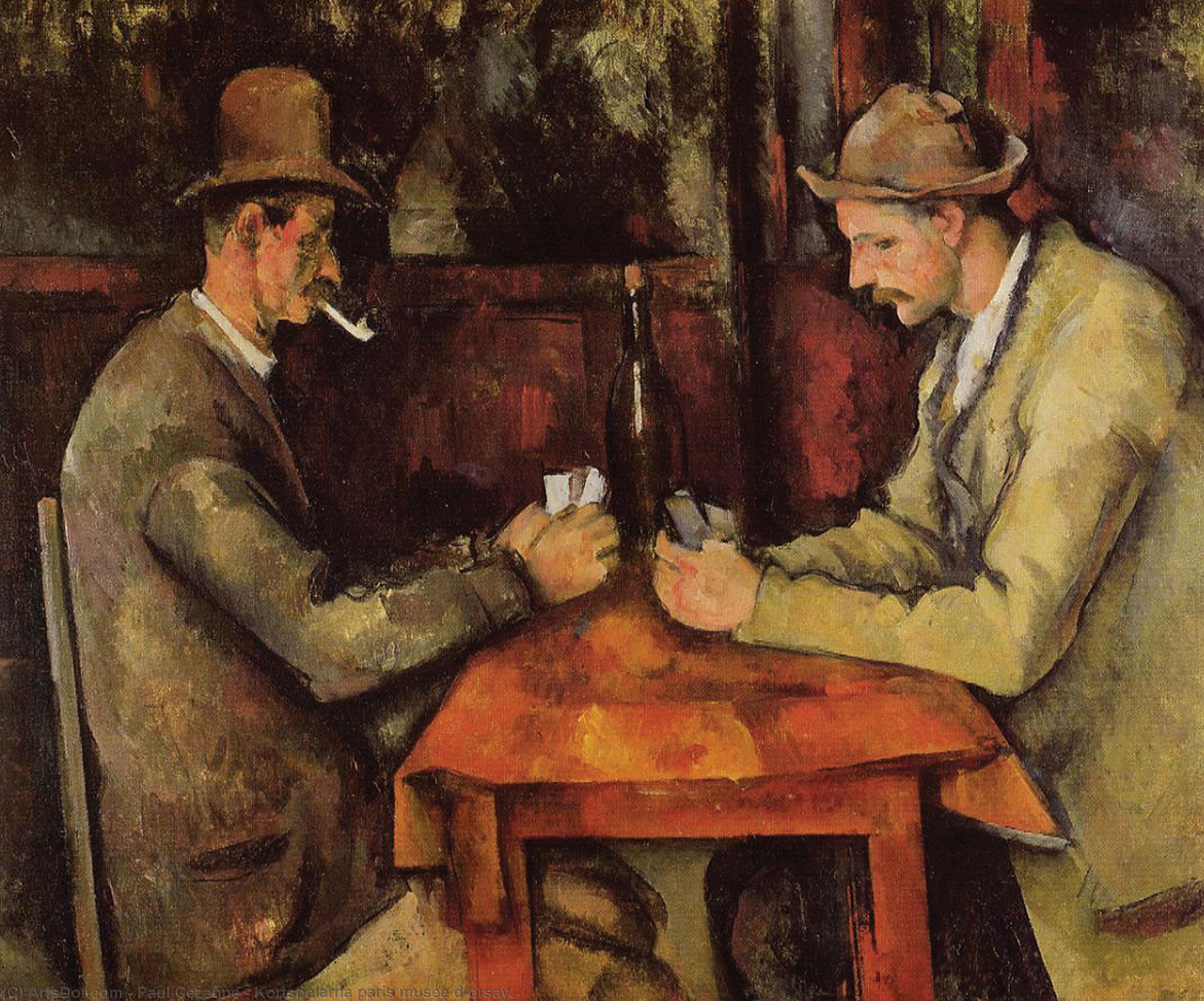 Wikioo.org - The Encyclopedia of Fine Arts - Painting, Artwork by Paul Cezanne - Kortspelarna paris musée d'orsay.