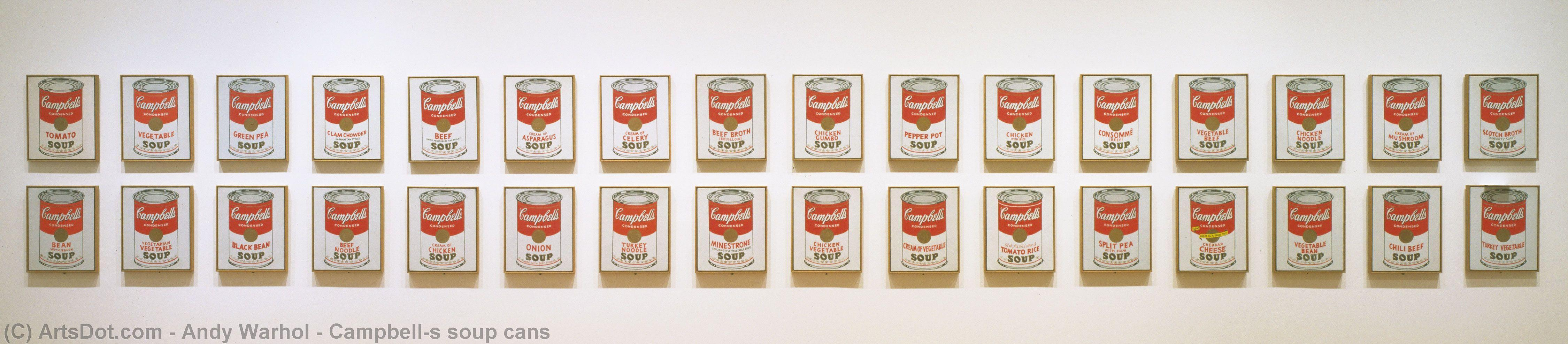 Wikioo.org - The Encyclopedia of Fine Arts - Painting, Artwork by Andy Warhol - Campbell's soup cans