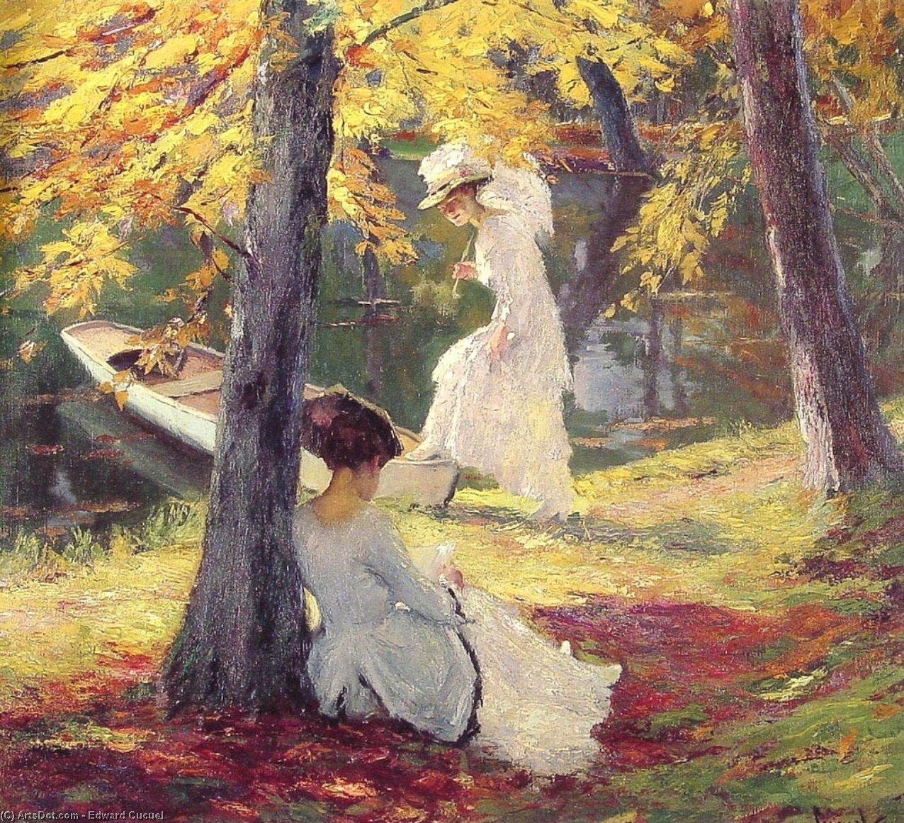 Wikioo.org – L'Encyclopédie des Beaux Arts - Peinture, Oeuvre de Edward Cucuel - Automne Sun