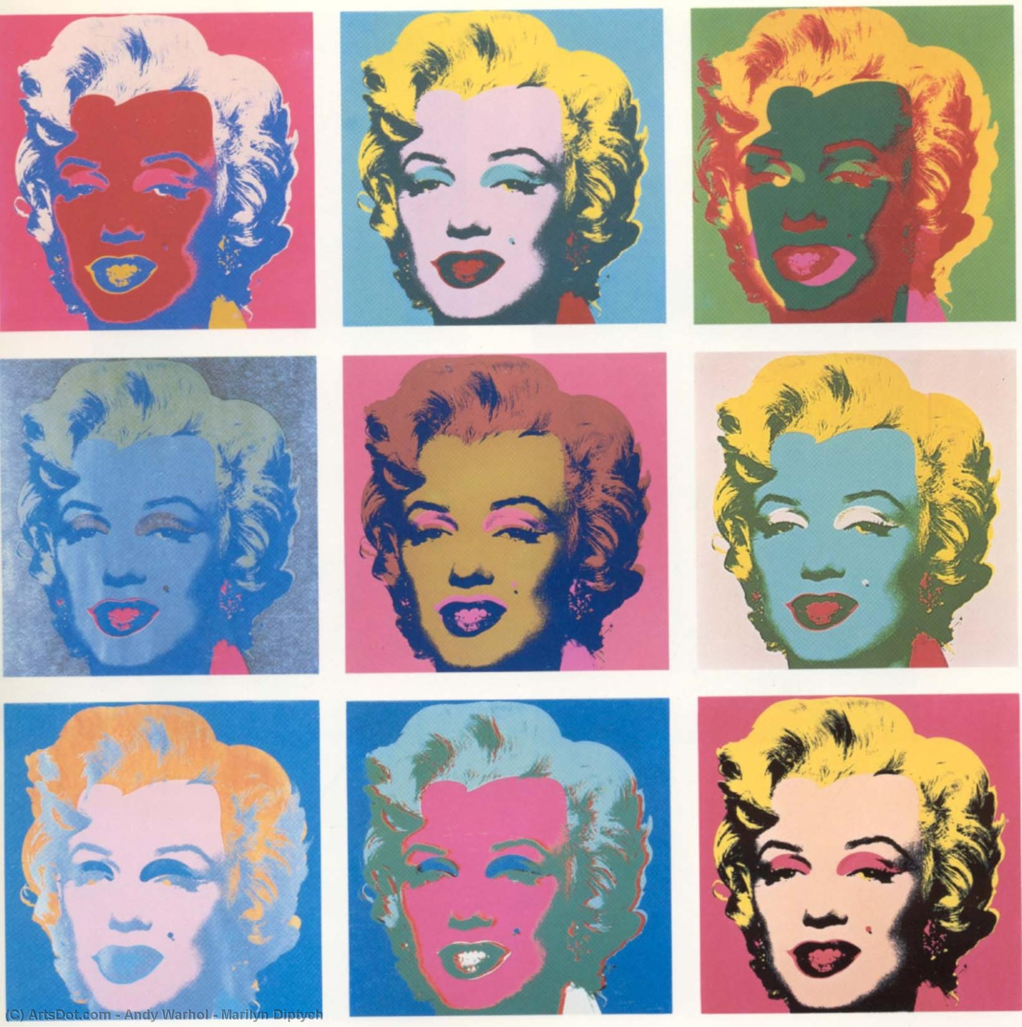 Wikioo.org - The Encyclopedia of Fine Arts - Painting, Artwork by Andy Warhol - Marilyn Diptych