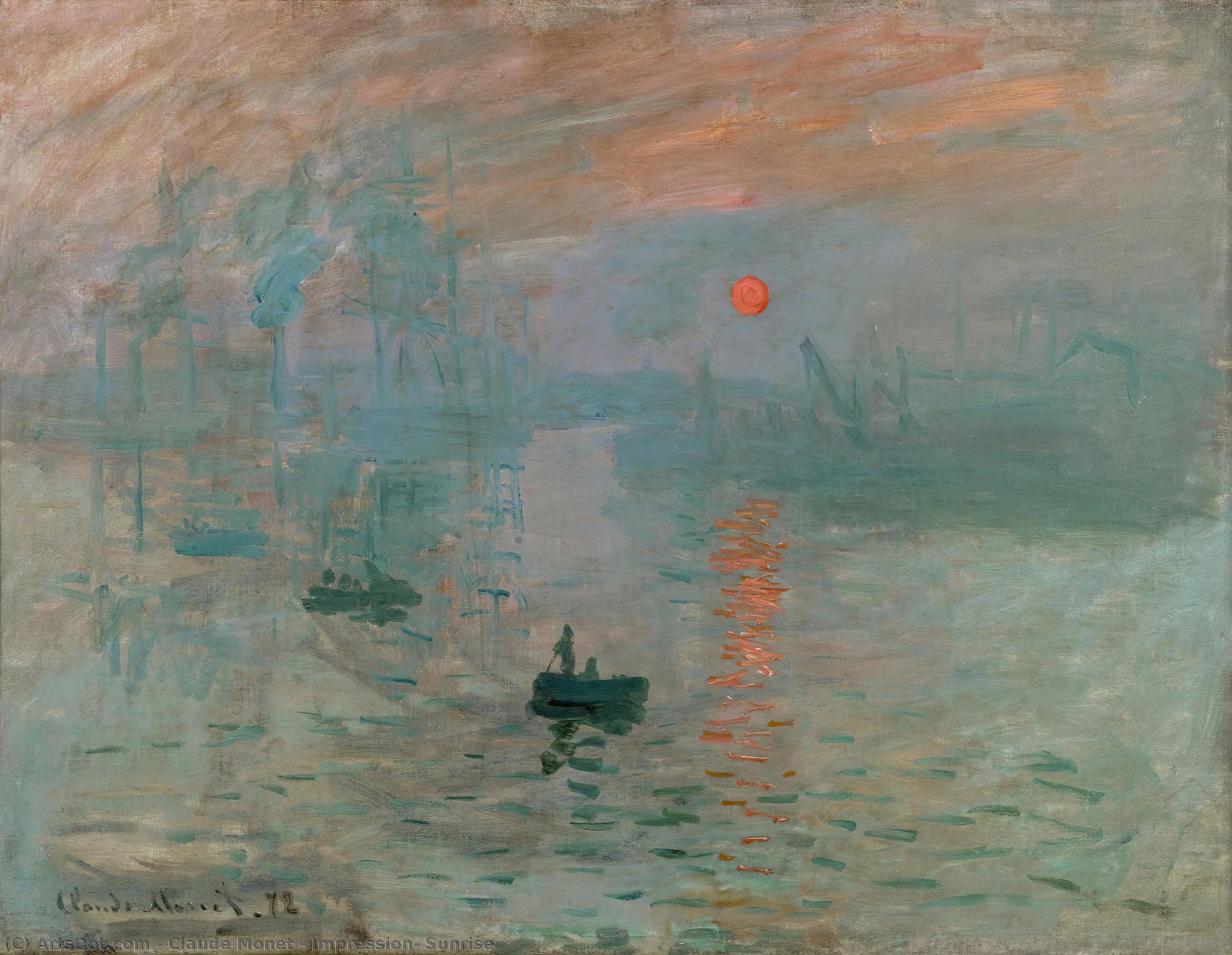 Wikioo.org - The Encyclopedia of Fine Arts - Painting, Artwork by Claude Monet - Impression, Sunrise