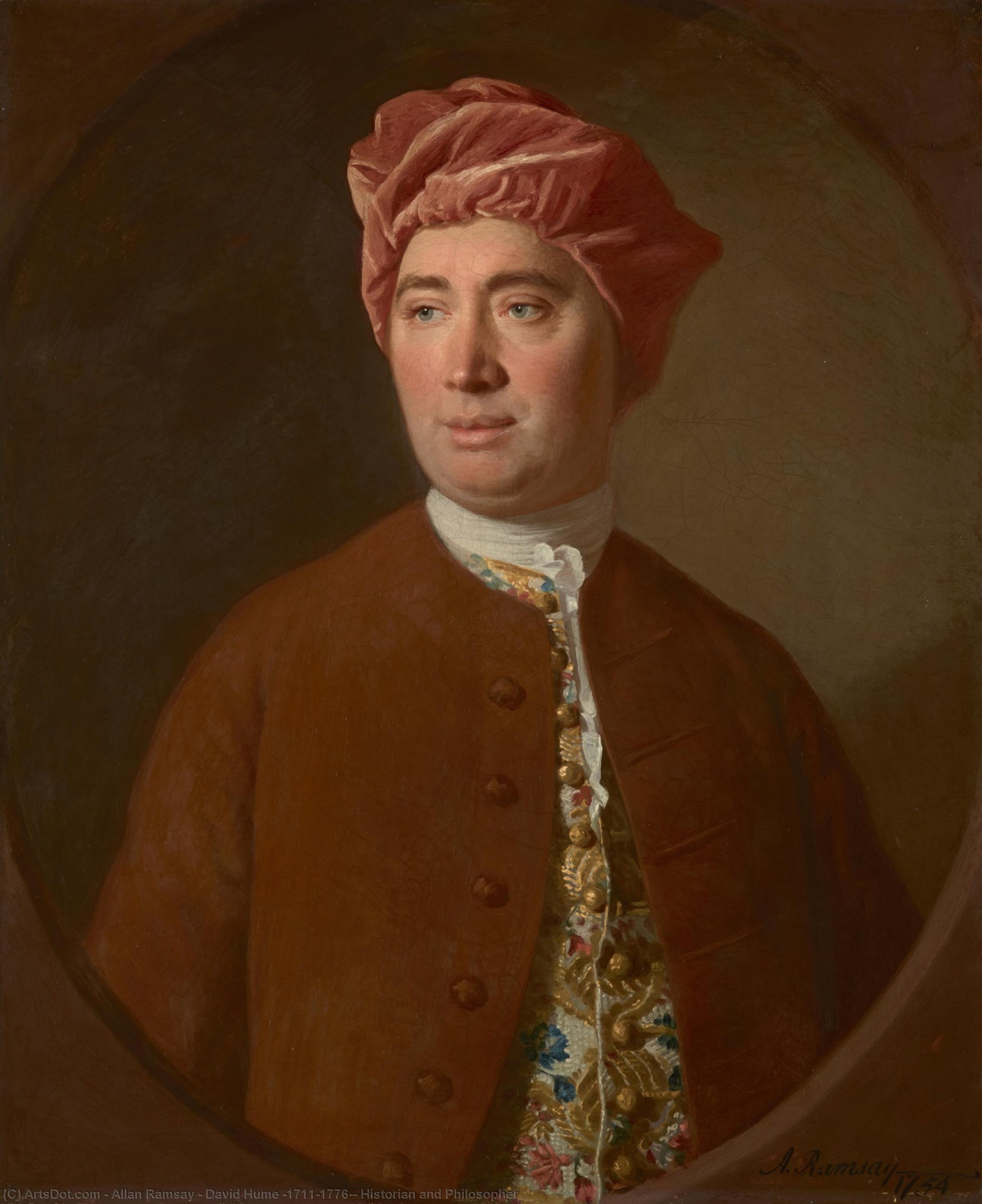 Wikioo.org - The Encyclopedia of Fine Arts - Painting, Artwork by Allan Ramsay - David Hume (1711–1776), Historian and Philosopher