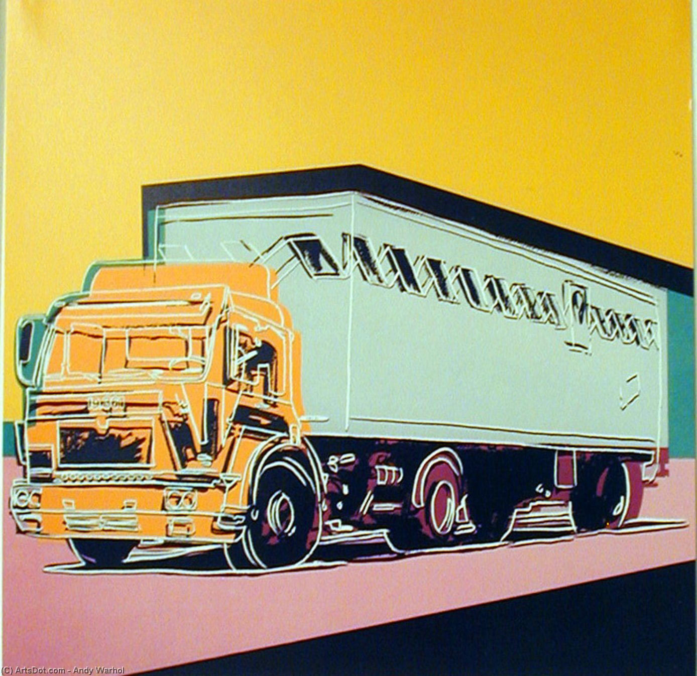 Wikioo.org - The Encyclopedia of Fine Arts - Painting, Artwork by Andy Warhol - Truck Announcement