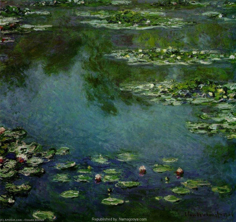 WikiOO.org – 美術百科全書 - 繪畫,作品 Claude Monet - 睡莲