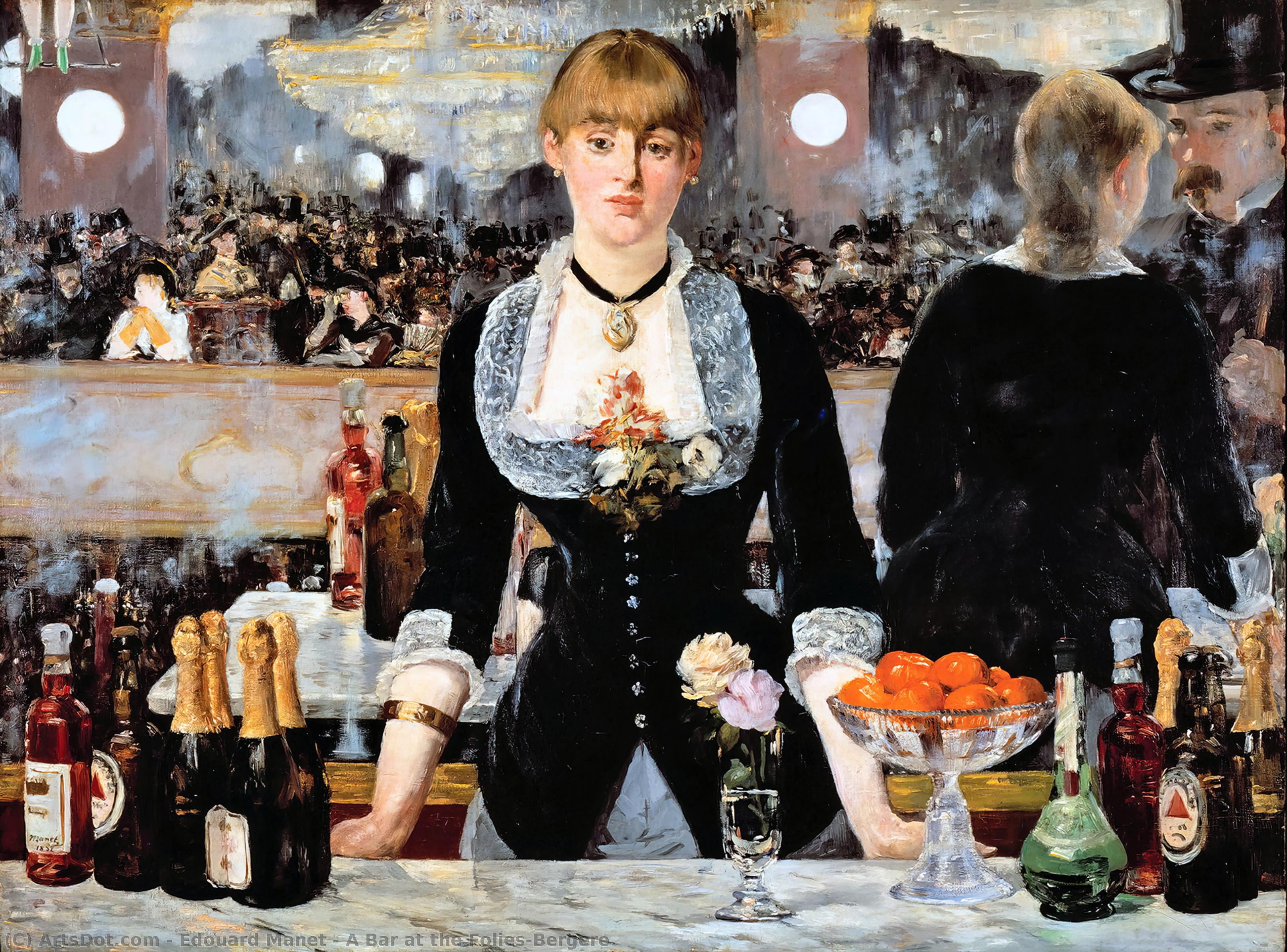 Wikioo.org - The Encyclopedia of Fine Arts - Painting, Artwork by Edouard Manet - A Bar at the Folies-Bergere