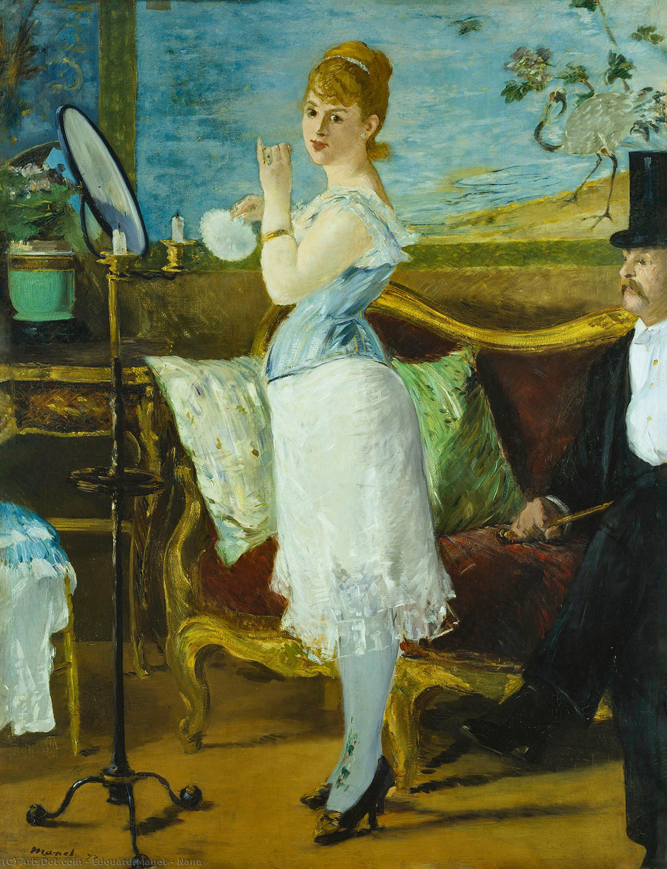 Wikioo.org - The Encyclopedia of Fine Arts - Painting, Artwork by Edouard Manet - Nana