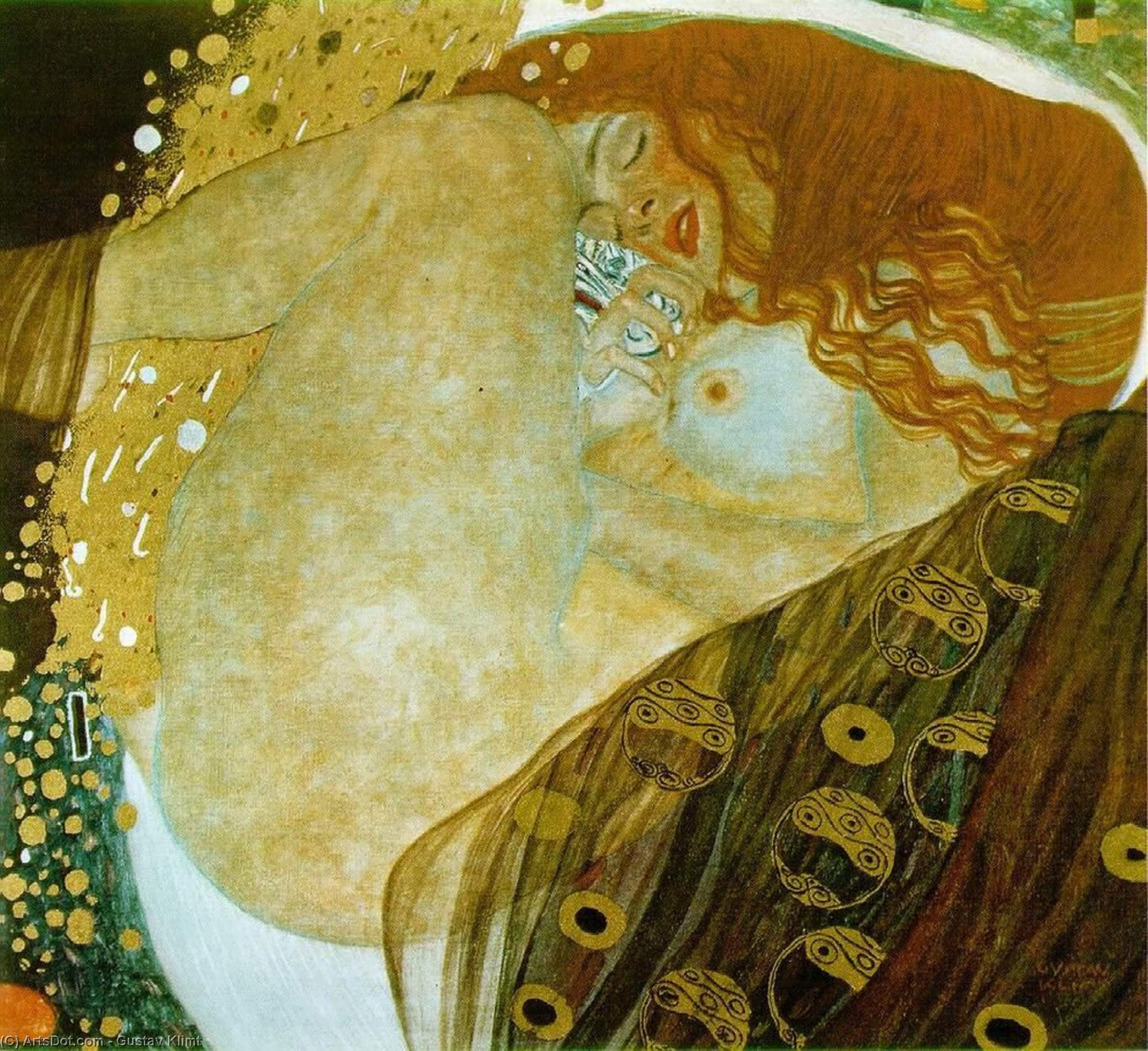 Wikioo.org - The Encyclopedia of Fine Arts - Painting, Artwork by Gustav Klimt - Danae