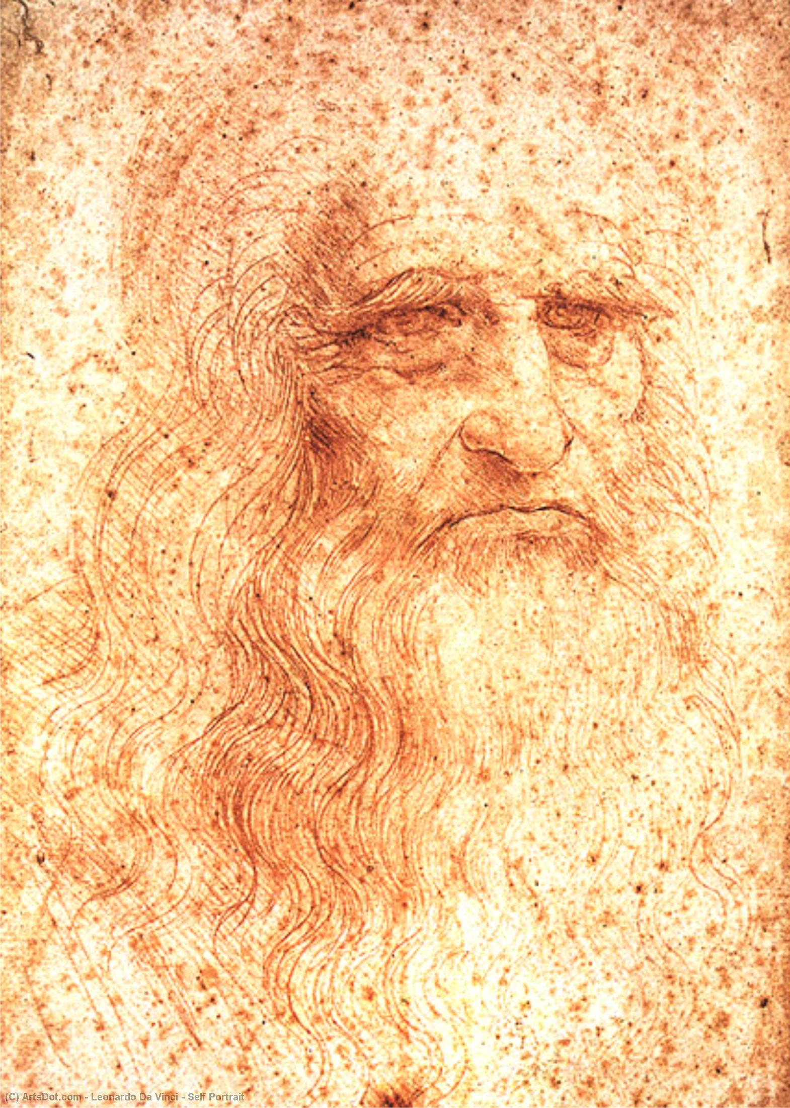 WikiOO.org - Güzel Sanatlar Ansiklopedisi - Resim, Resimler Leonardo Da Vinci - Self Portrait
