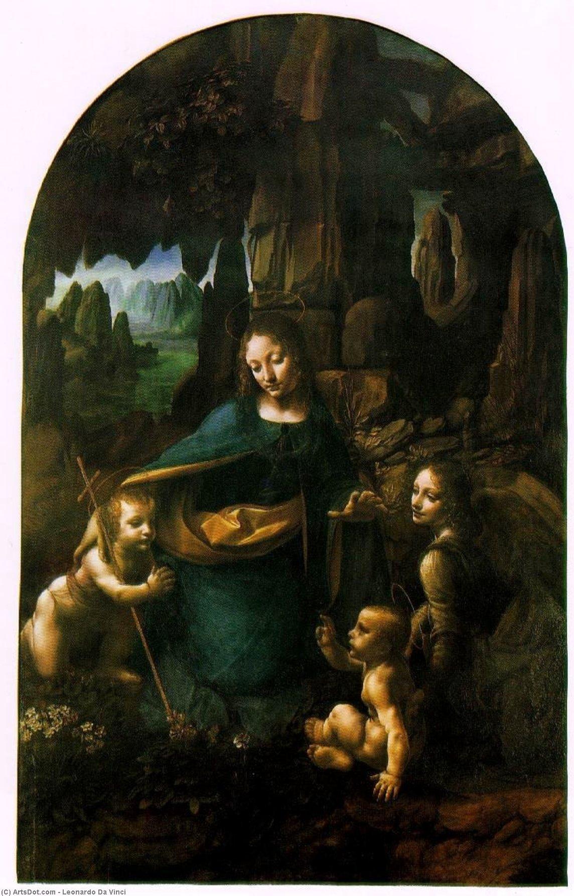 WikiOO.org - Güzel Sanatlar Ansiklopedisi - Resim, Resimler Leonardo Da Vinci - Virgin of the Rocks - London