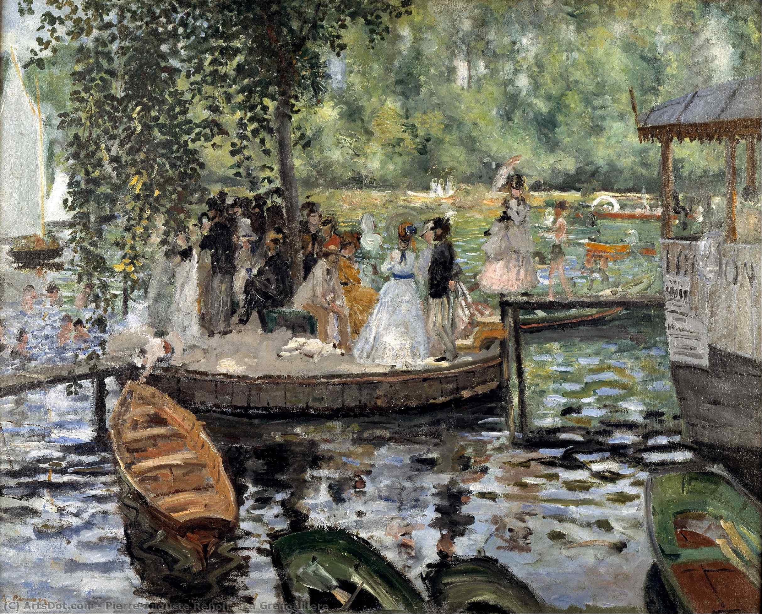 Wikoo.org - موسوعة الفنون الجميلة - اللوحة، العمل الفني Pierre-Auguste Renoir - La Grenouillere