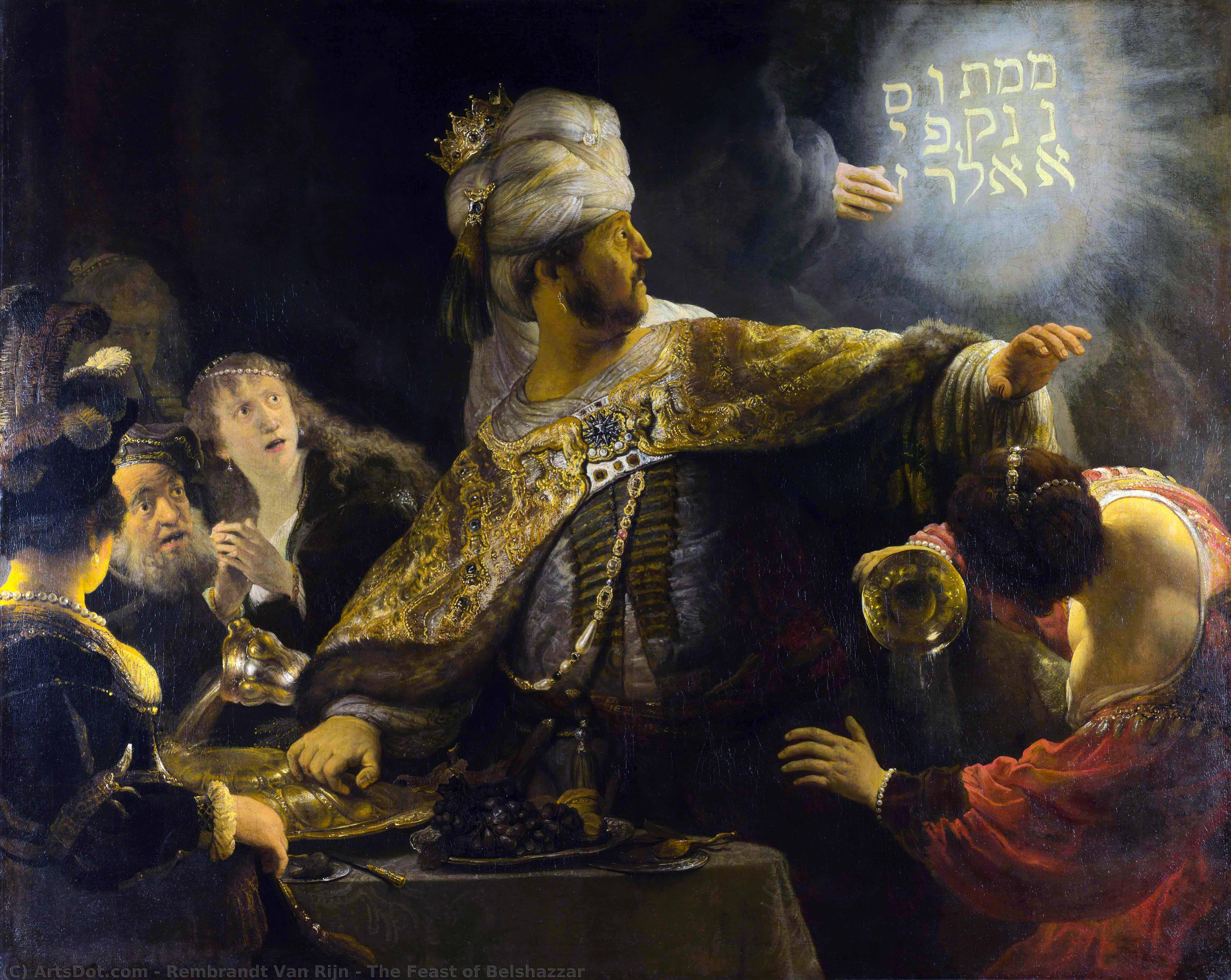 Wikioo.org - The Encyclopedia of Fine Arts - Painting, Artwork by Rembrandt Van Rijn - The Feast of Belshazzar