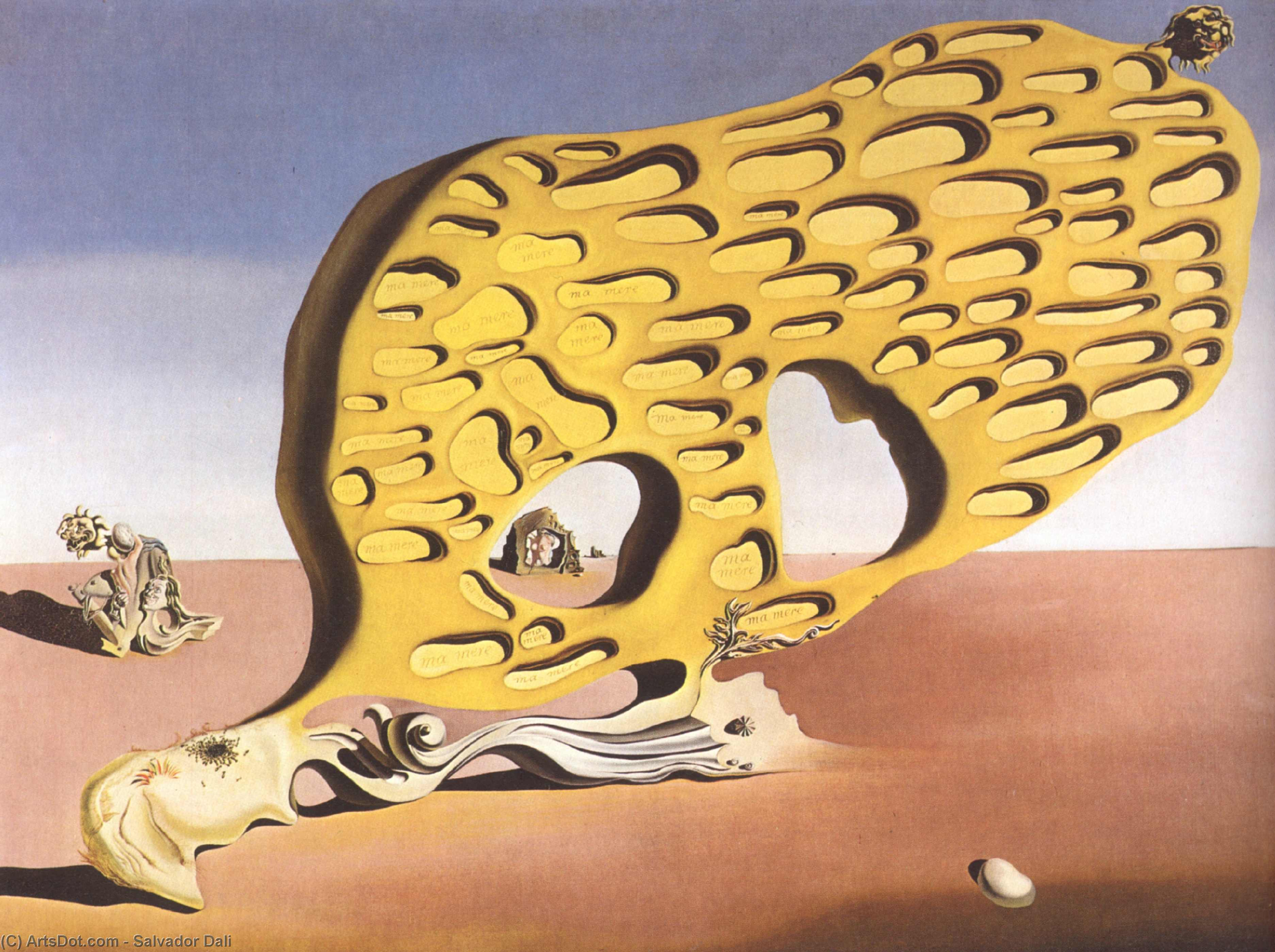 Wikioo.org - The Encyclopedia of Fine Arts - Painting, Artwork by Salvador Dali - The Enigma of Desire, My Mother, 1929