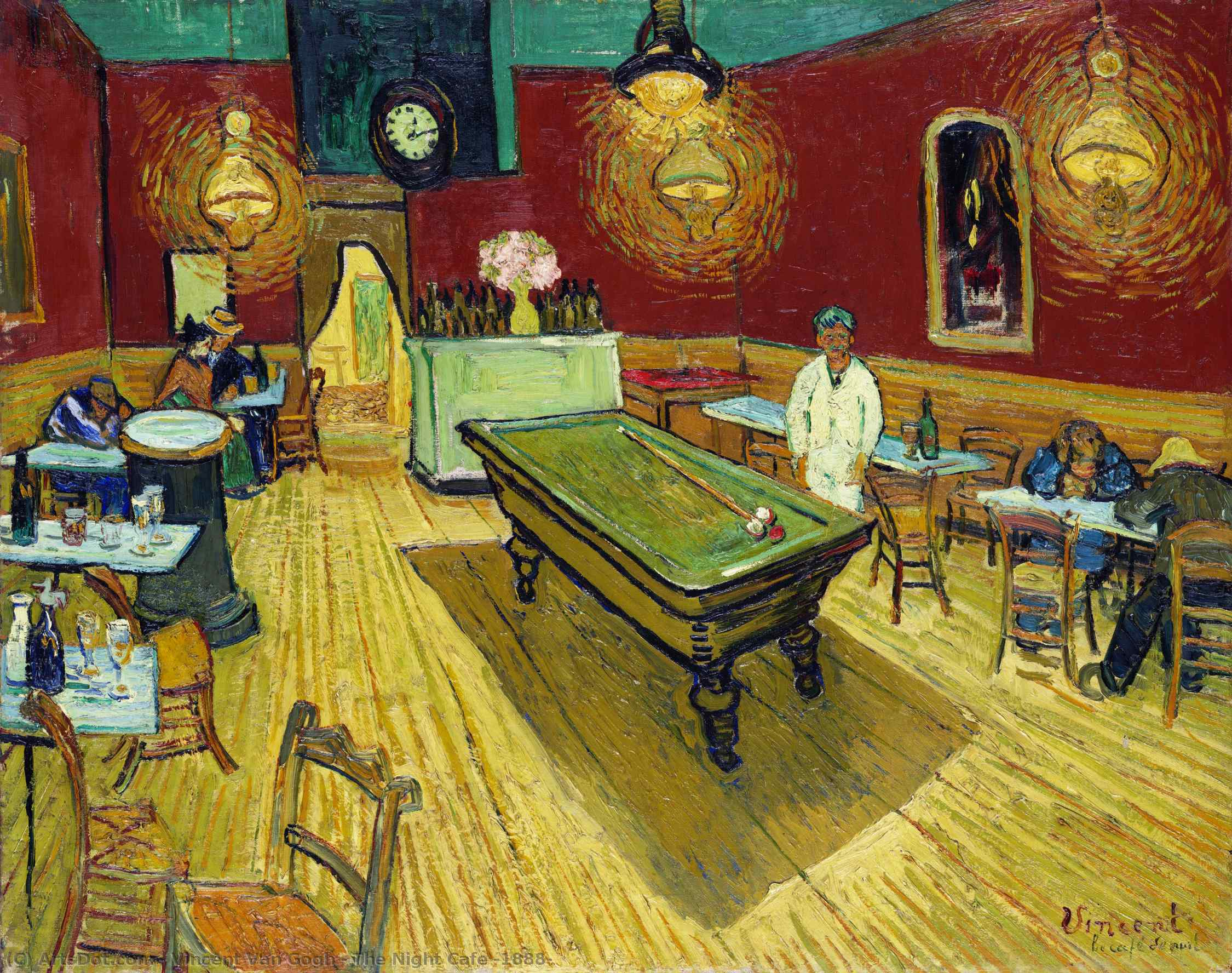 Wikioo.org - สารานุกรมวิจิตรศิลป์ - จิตรกรรม Vincent Van Gogh - The Night Cafe