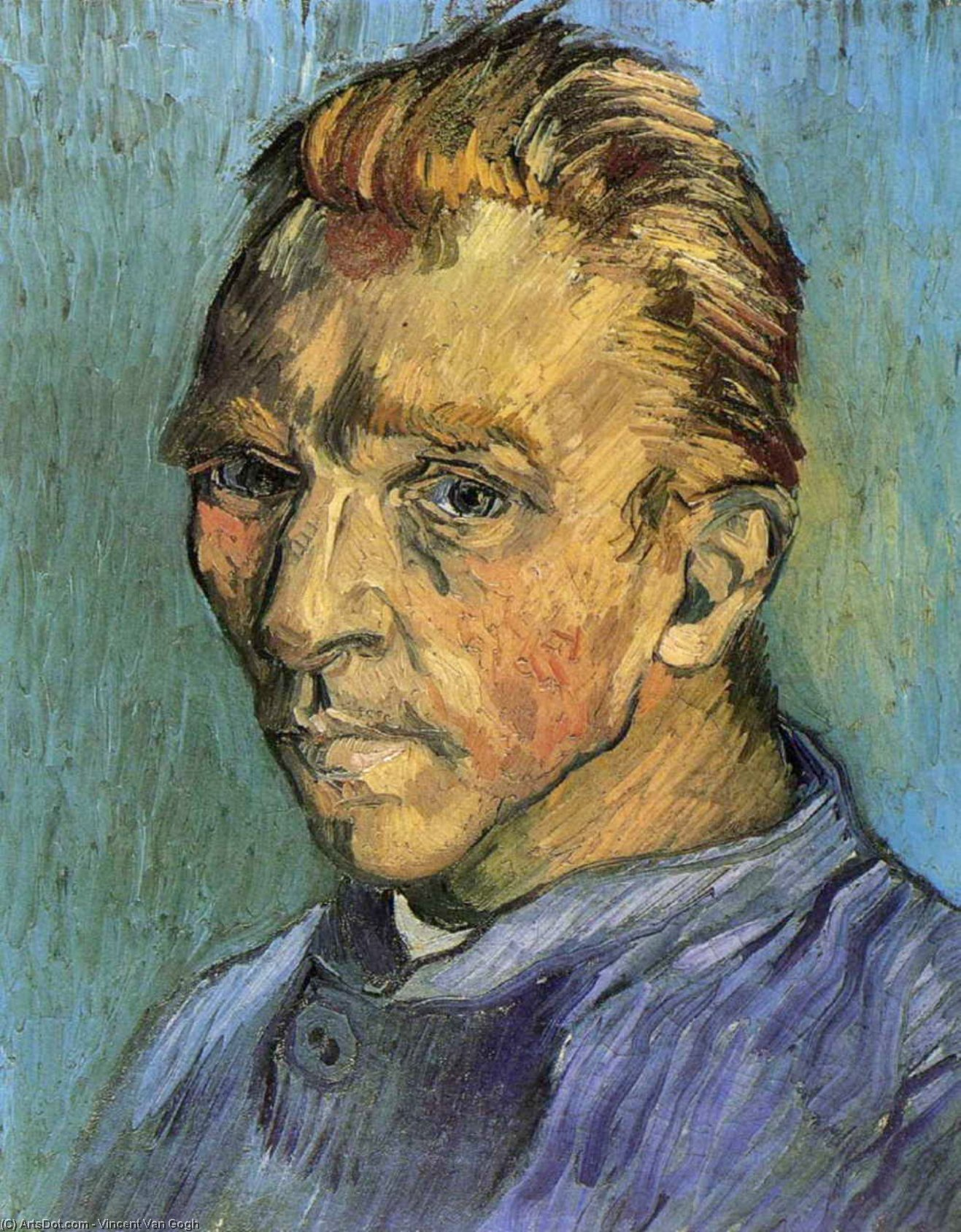 WikiOO.org - Enciklopedija dailės - Tapyba, meno kuriniai Vincent Van Gogh - Self Portrait