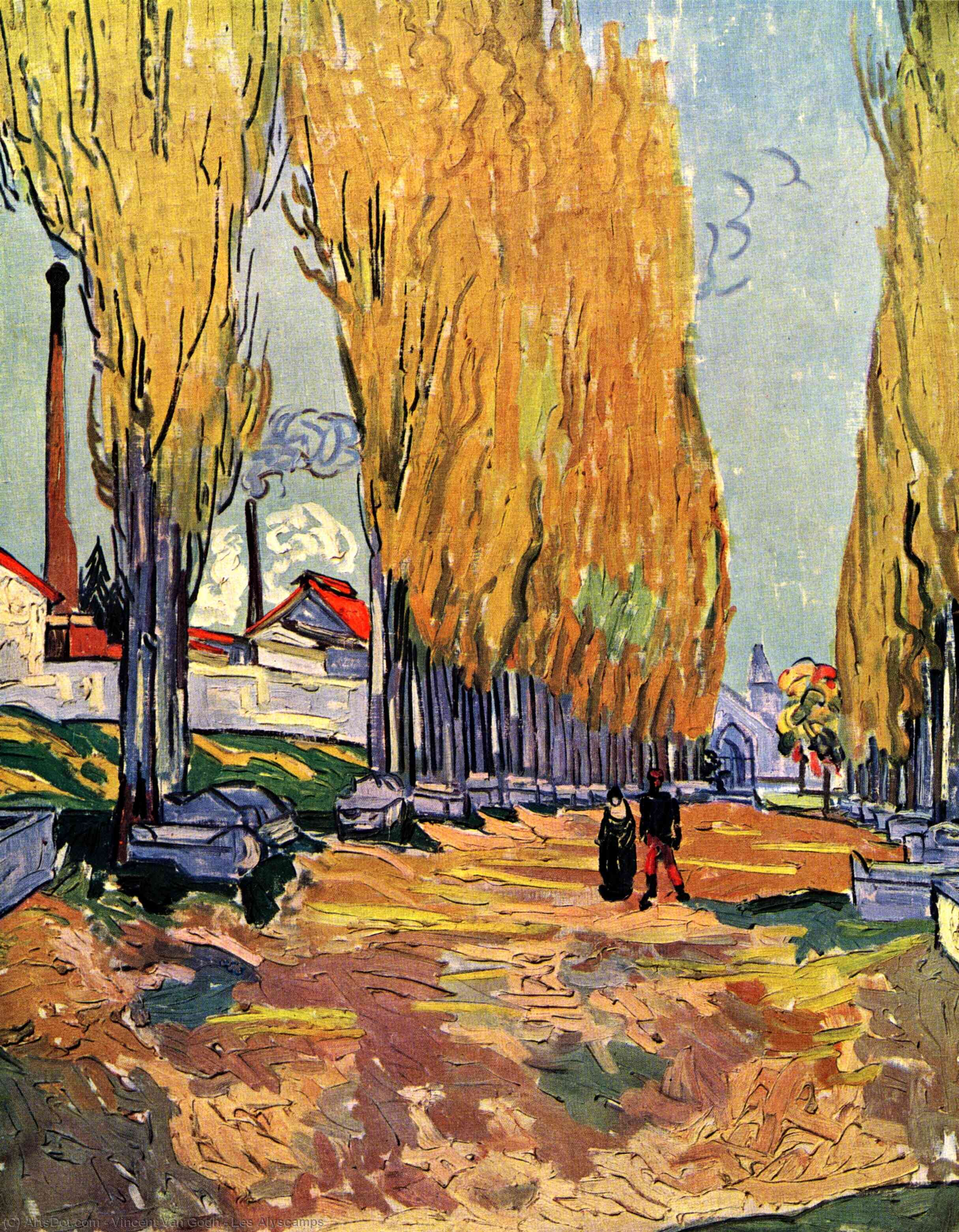 Wikioo.org - The Encyclopedia of Fine Arts - Painting, Artwork by Vincent Van Gogh - Les Alyscamps