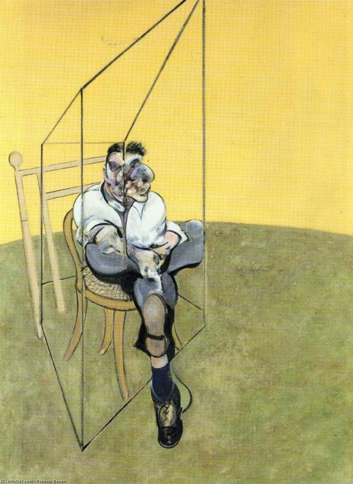 Wikioo.org - The Encyclopedia of Fine Arts - Painting, Artwork by Francis Bacon - three studies of lucian freud, 1969 a