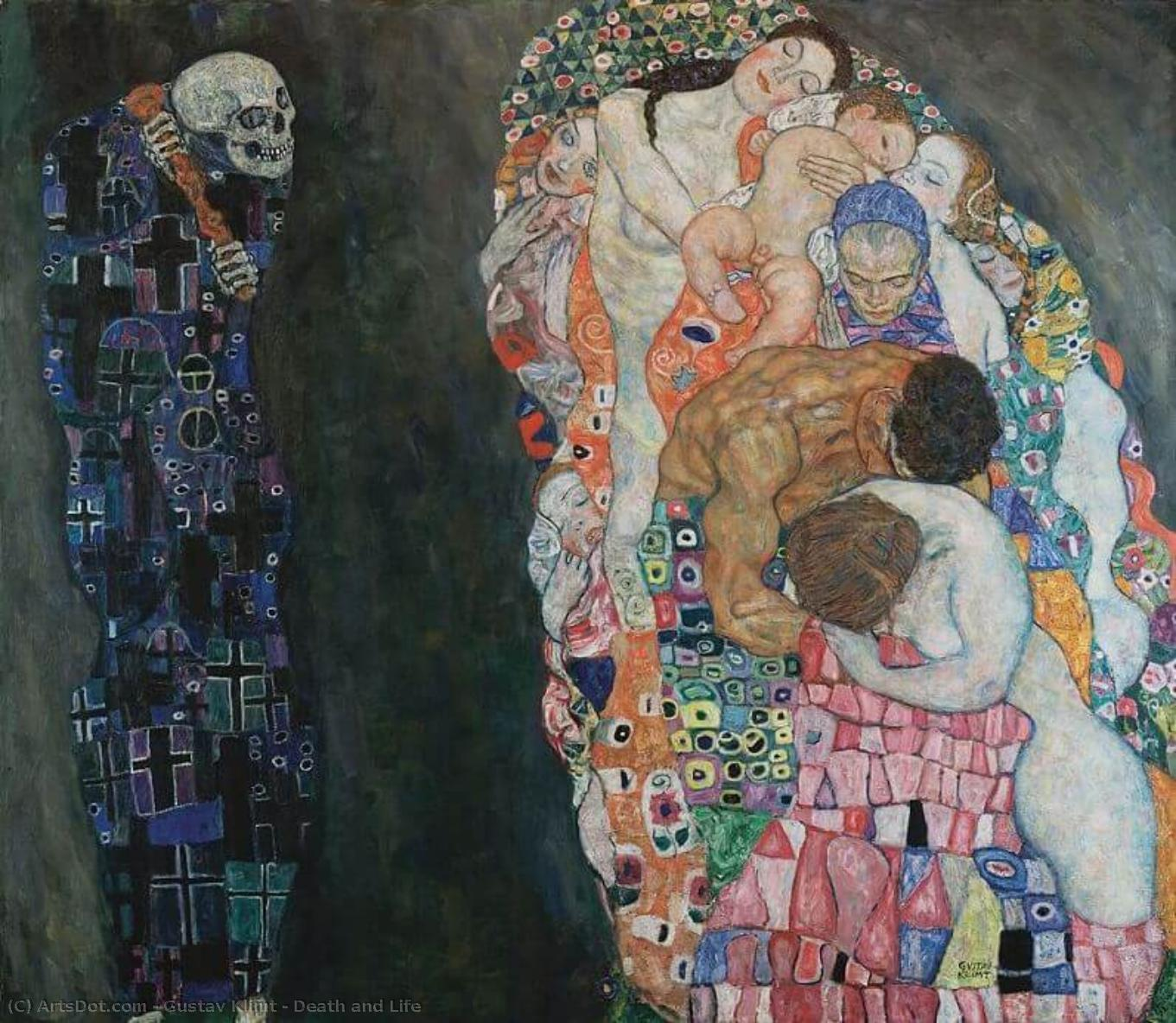 Wikioo.org - The Encyclopedia of Fine Arts - Painting, Artwork by Gustav Klimt - Death and Life