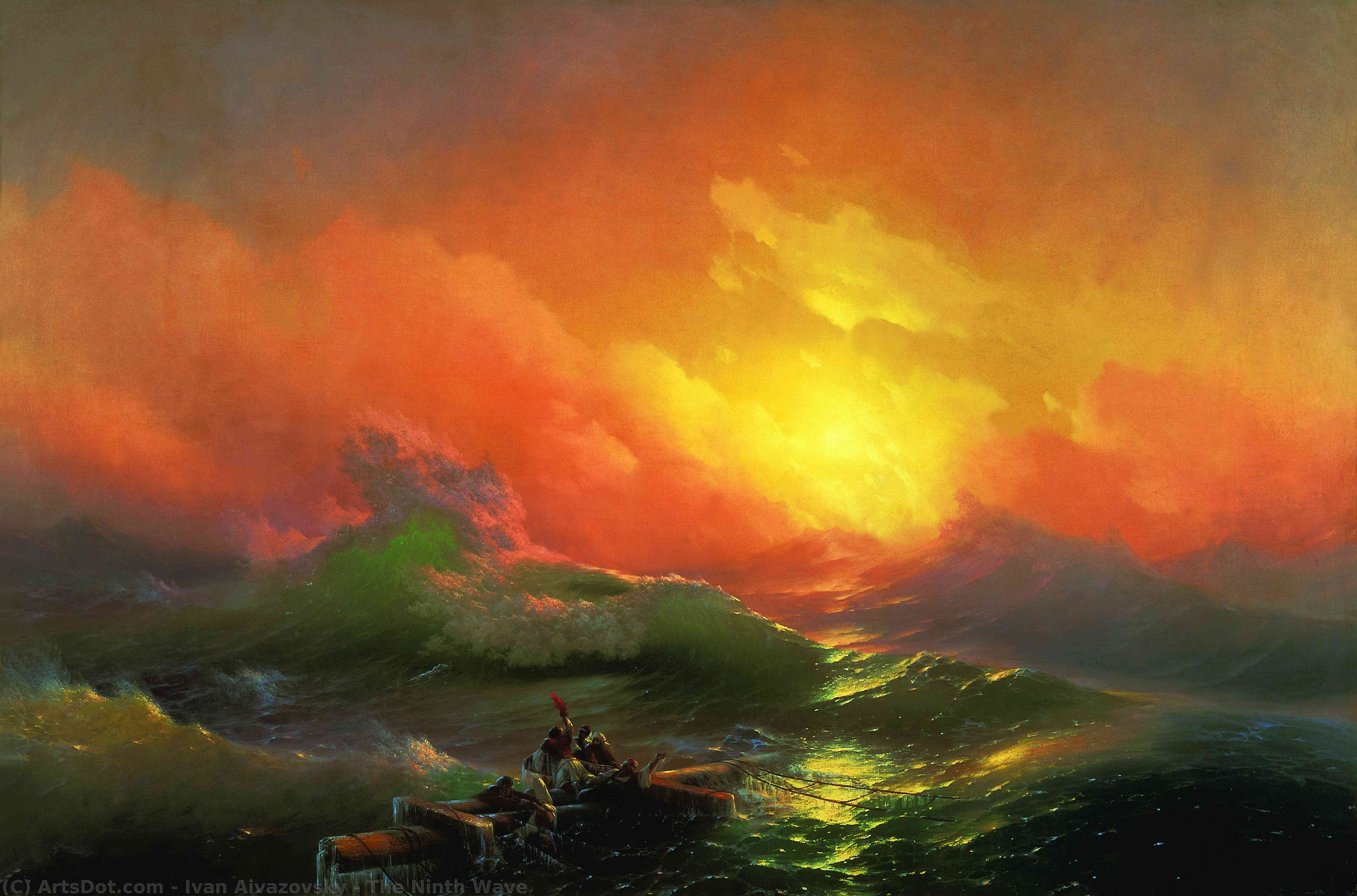 Wikioo.org - The Encyclopedia of Fine Arts - Painting, Artwork by Ivan Aivazovsky - The Ninth Wave