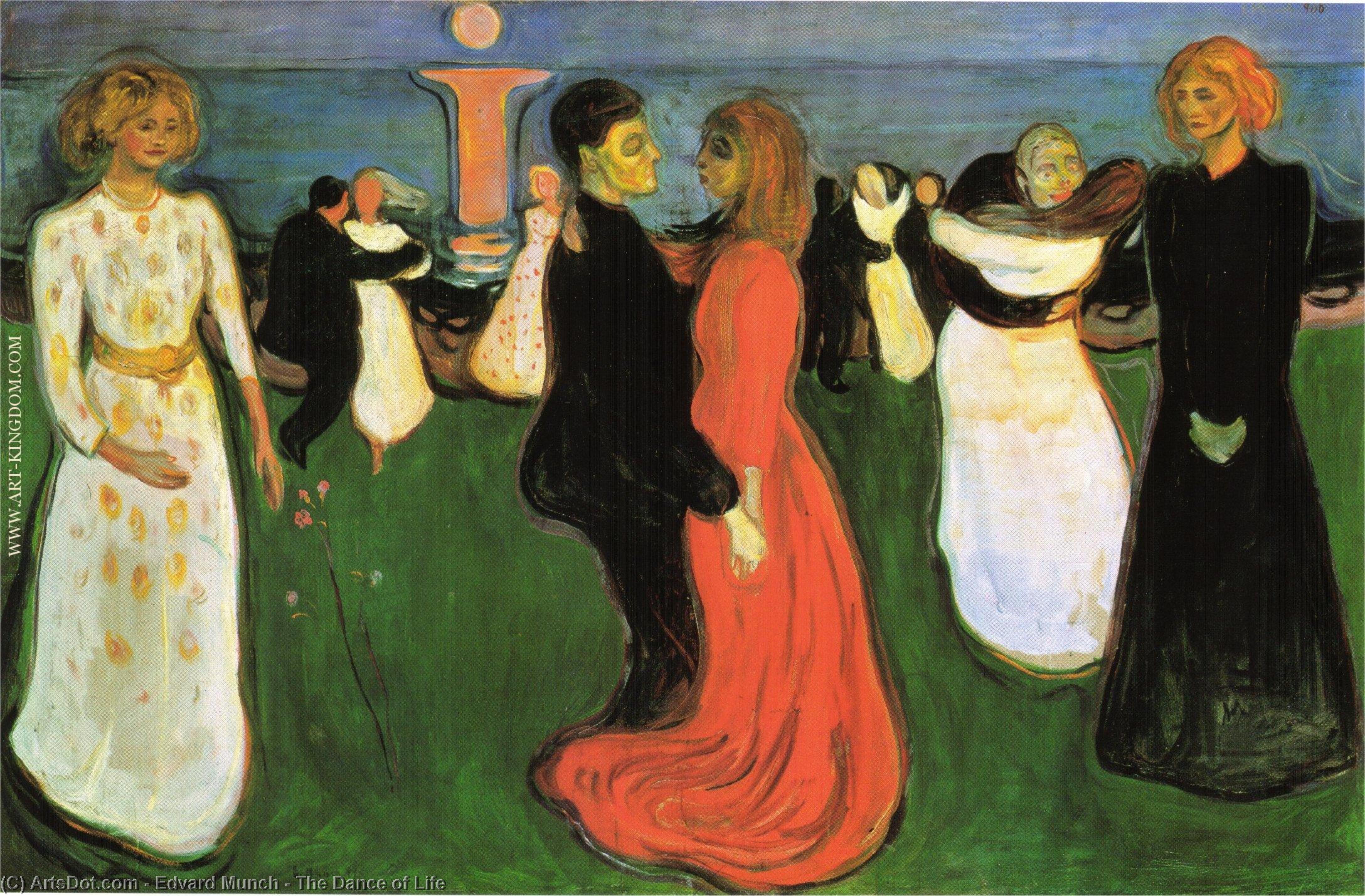 WikiOO.org - Encyclopedia of Fine Arts - Schilderen, Artwork Edvard Munch - The Dance of Life
