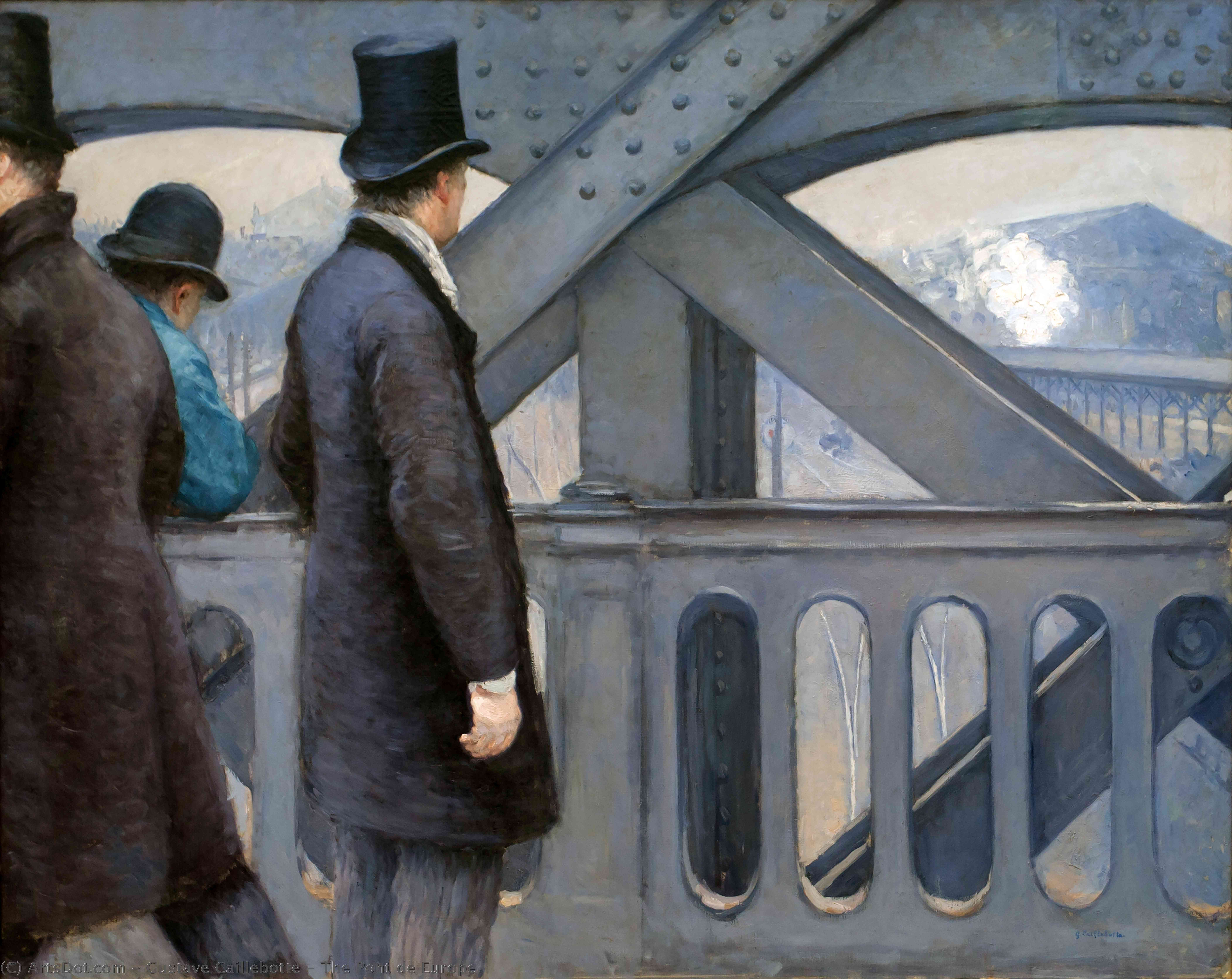 Wikioo.org - The Encyclopedia of Fine Arts - Painting, Artwork by Gustave Caillebotte - The Pont de Europe