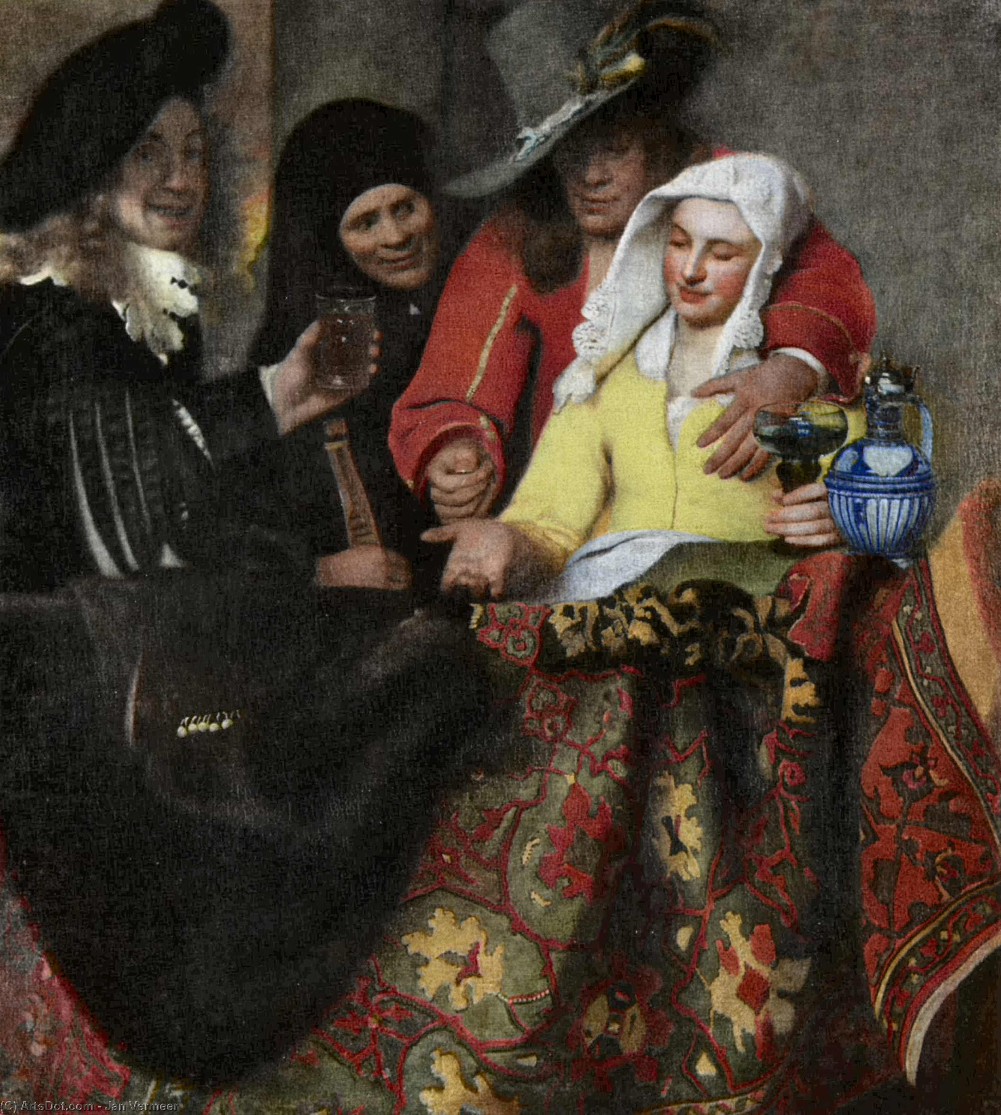 Wikioo.org - The Encyclopedia of Fine Arts - Painting, Artwork by Jan Vermeer - The Procuress