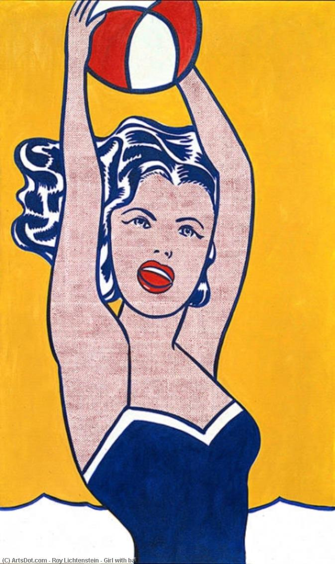 Wikioo.org - The Encyclopedia of Fine Arts - Painting, Artwork by Roy Lichtenstein - Girl with ball