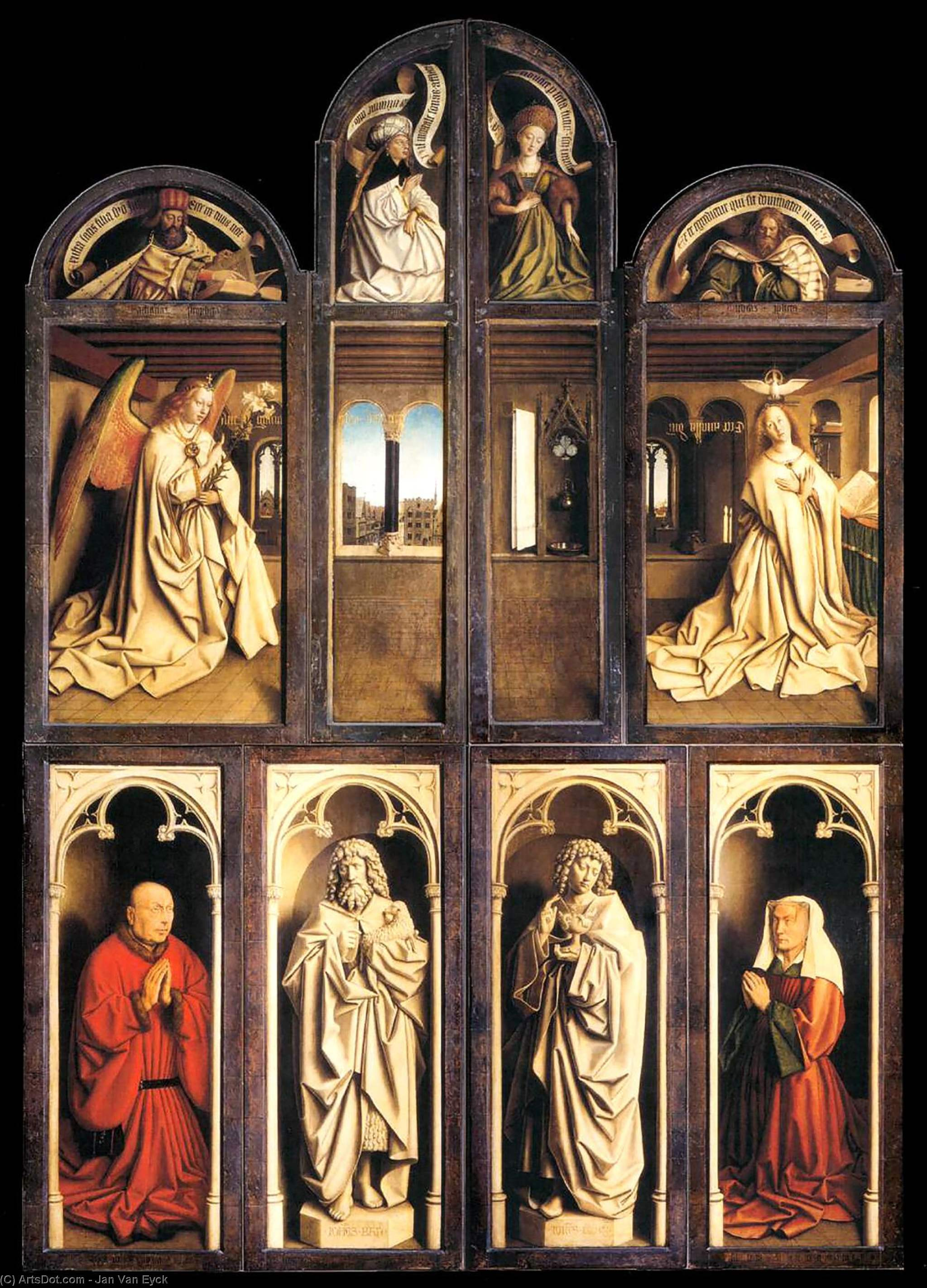 an analysis of the painting the ghent altarpiece by hubert van eyck An altarpiece is an artwork such as a painting  the ghent altarpiece (1432) by hubert and jan van eyck (st bavo's cathedral, ghent).
