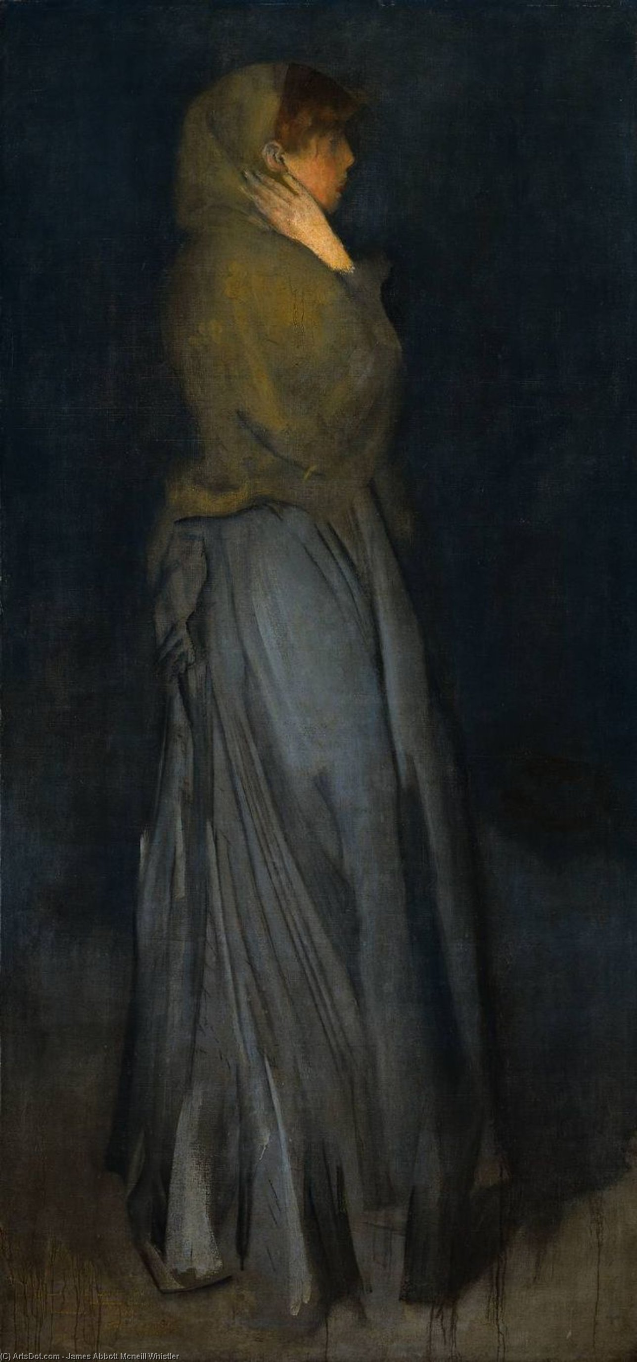 Wikioo.org - The Encyclopedia of Fine Arts - Painting, Artwork by James Abbott Mcneill Whistler - Arrangement in Yellow and Grey, Effie Deans