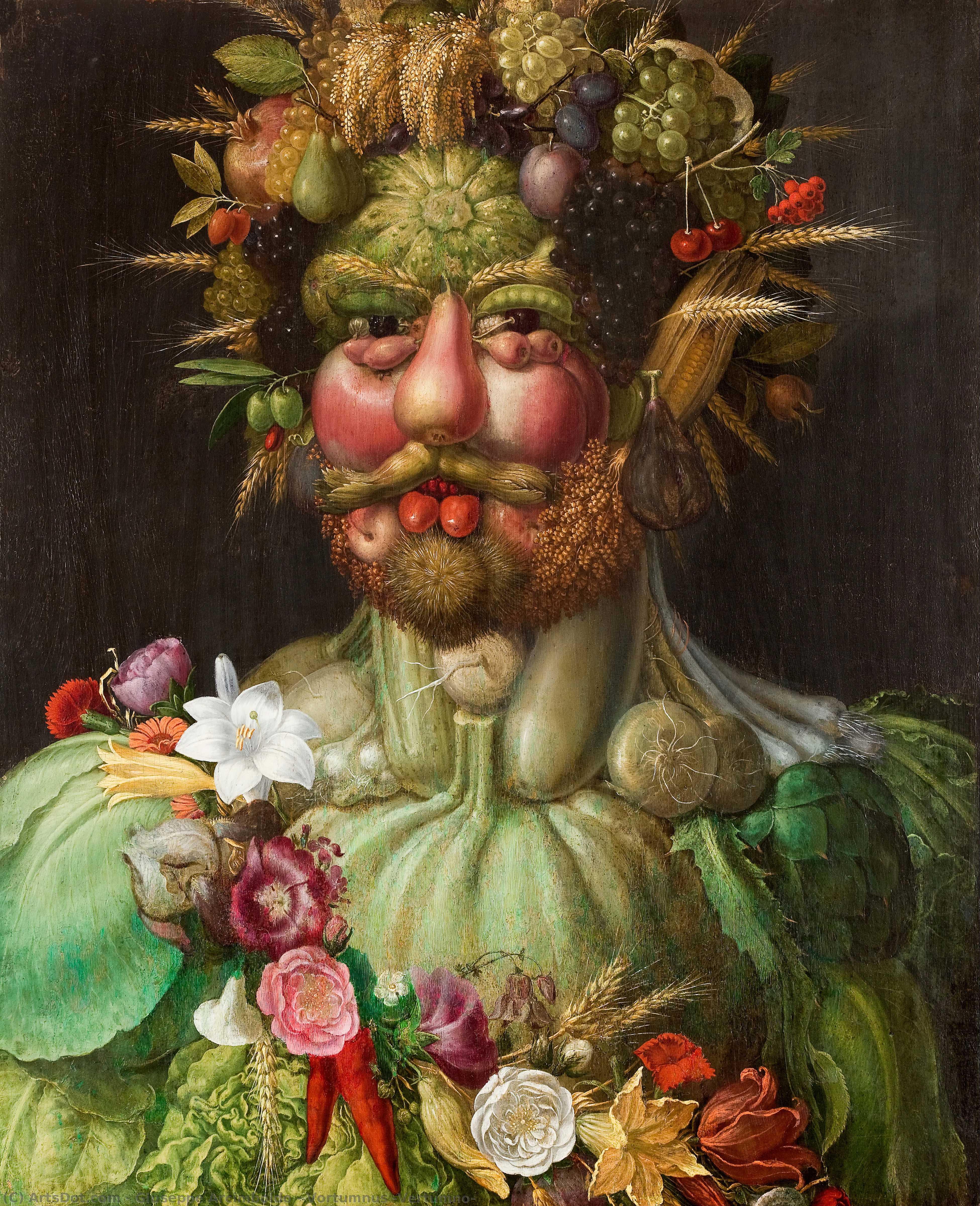 WikiOO.org - Encyclopedia of Fine Arts - Maľba, Artwork Giuseppe Arcimboldo - Vortumnus (Vertumno)