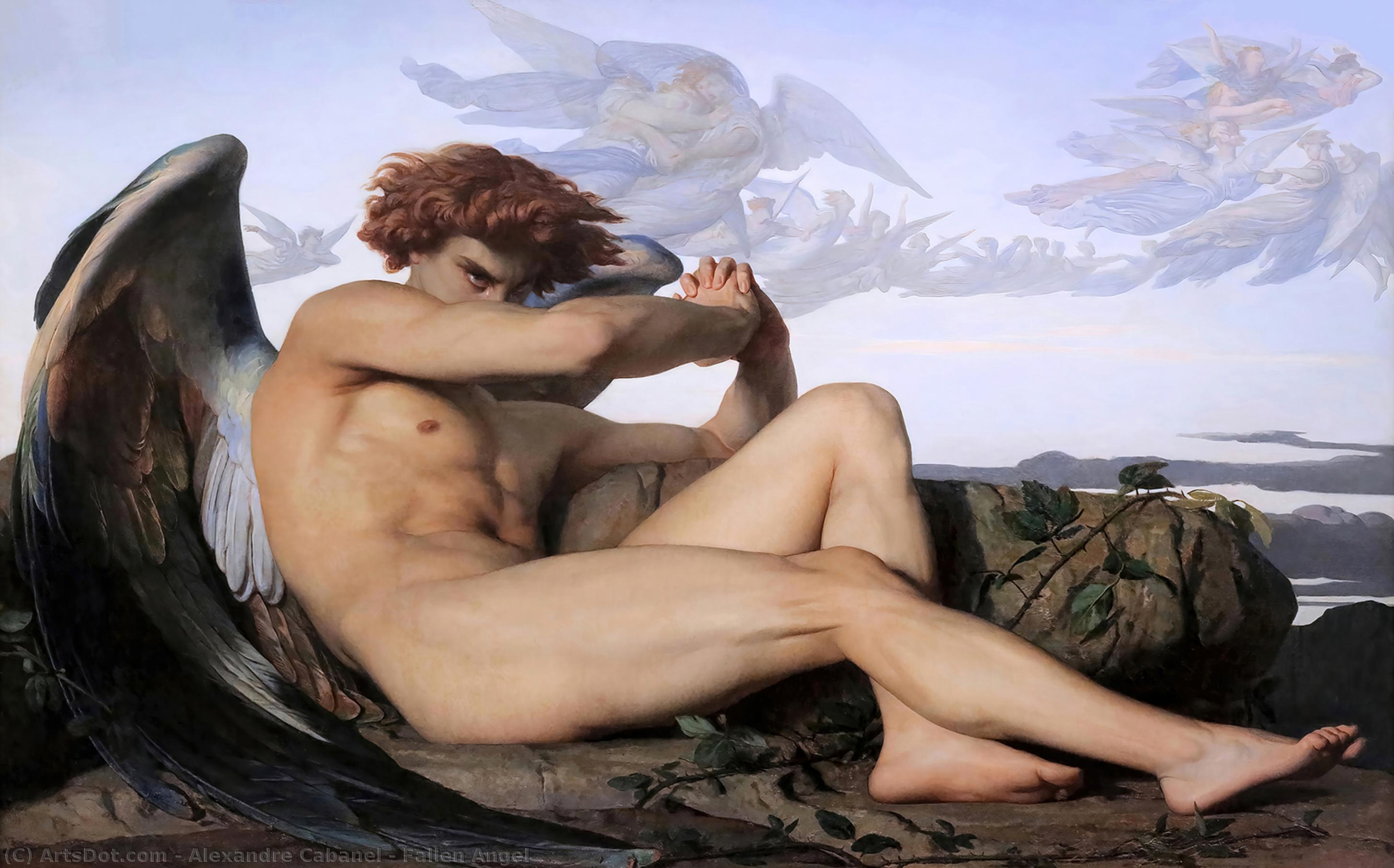 Wikioo.org - The Encyclopedia of Fine Arts - Painting, Artwork by Alexandre Cabanel - Fallen Angel