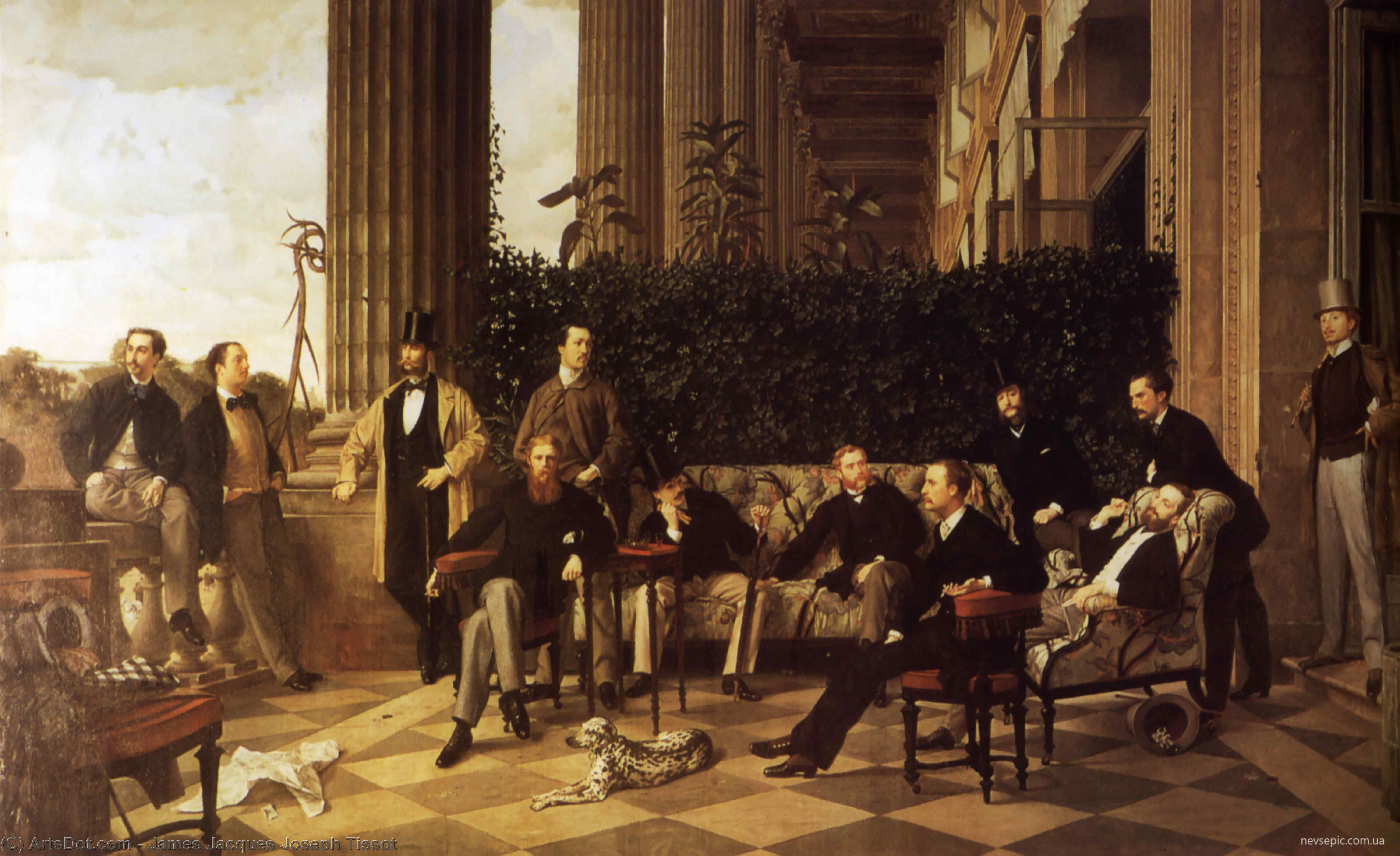 Wikioo.org - The Encyclopedia of Fine Arts - Painting, Artwork by James Jacques Joseph Tissot - The Circle of the Rue Royale