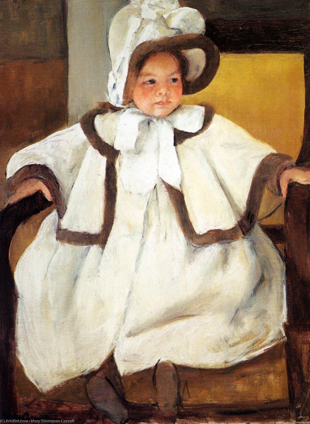 Wikioo.org - The Encyclopedia of Fine Arts - Painting, Artwork by Mary Stevenson Cassatt - Ellen Mary Cassatt in a White Coat