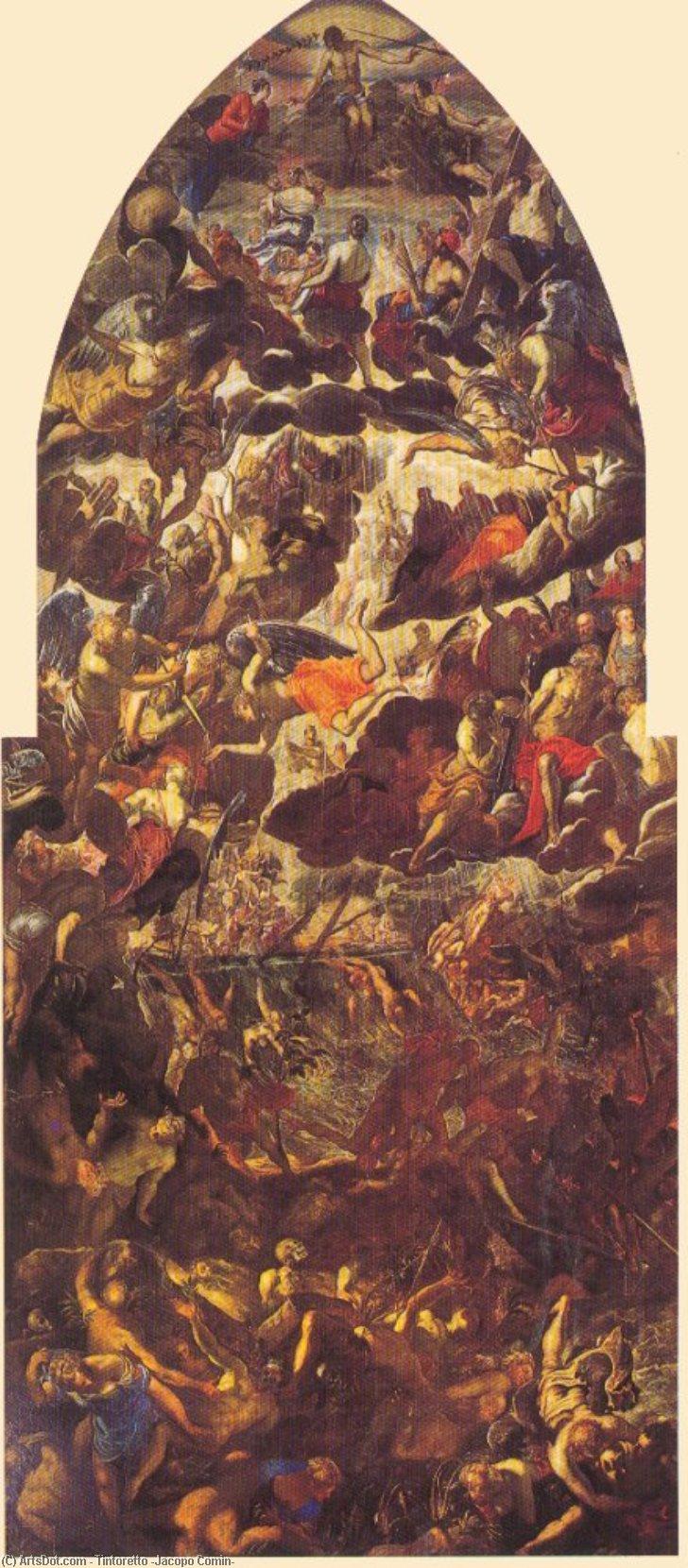 Wikioo.org – La Enciclopedia de las Bellas Artes - Pintura, Obras de arte de Tintoretto (Jacopo Comin) - Juicio Final