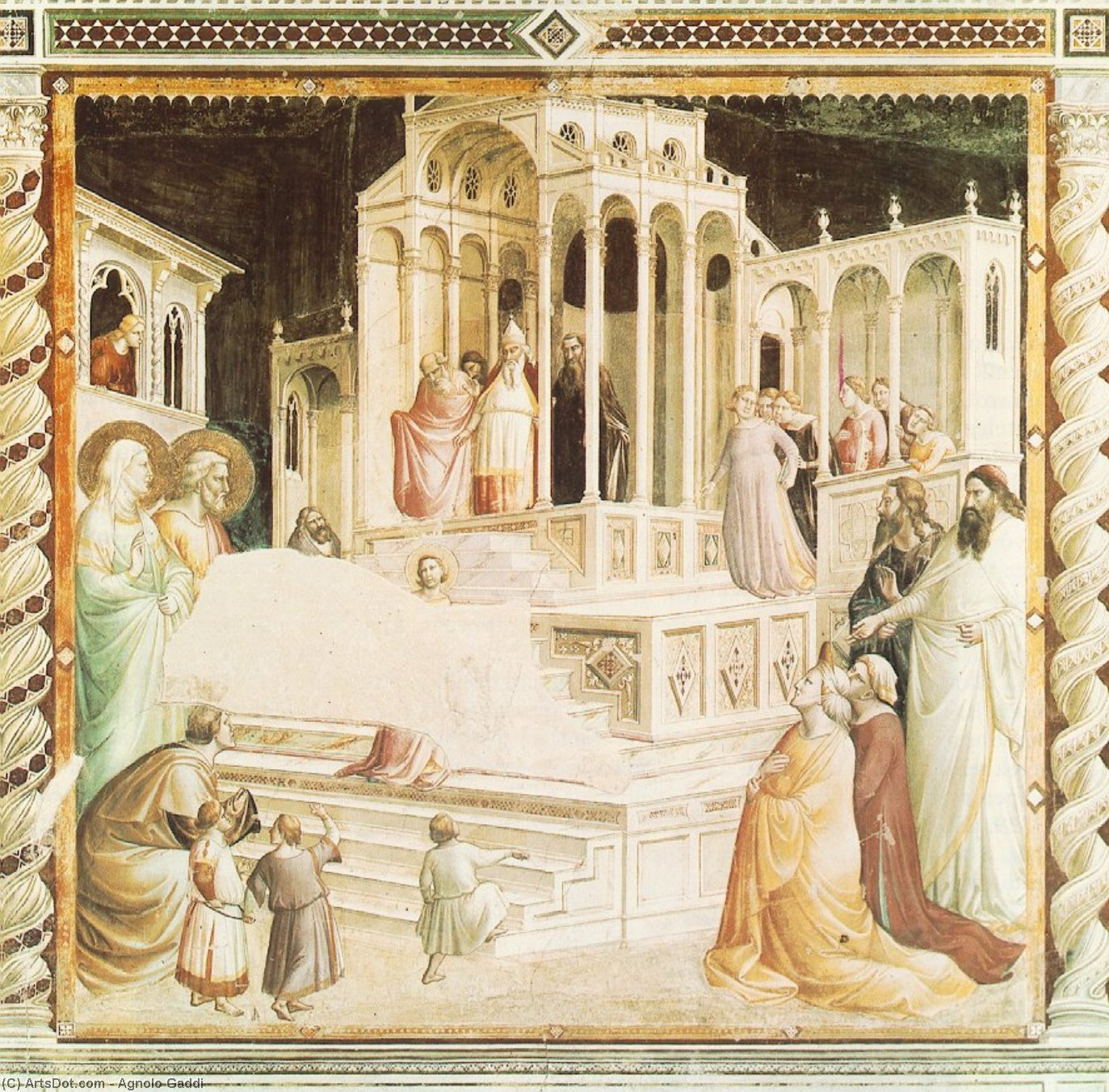Wikioo.org - The Encyclopedia of Fine Arts - Painting, Artwork by Agnolo Gaddi - Presentation of Mary in the Temple