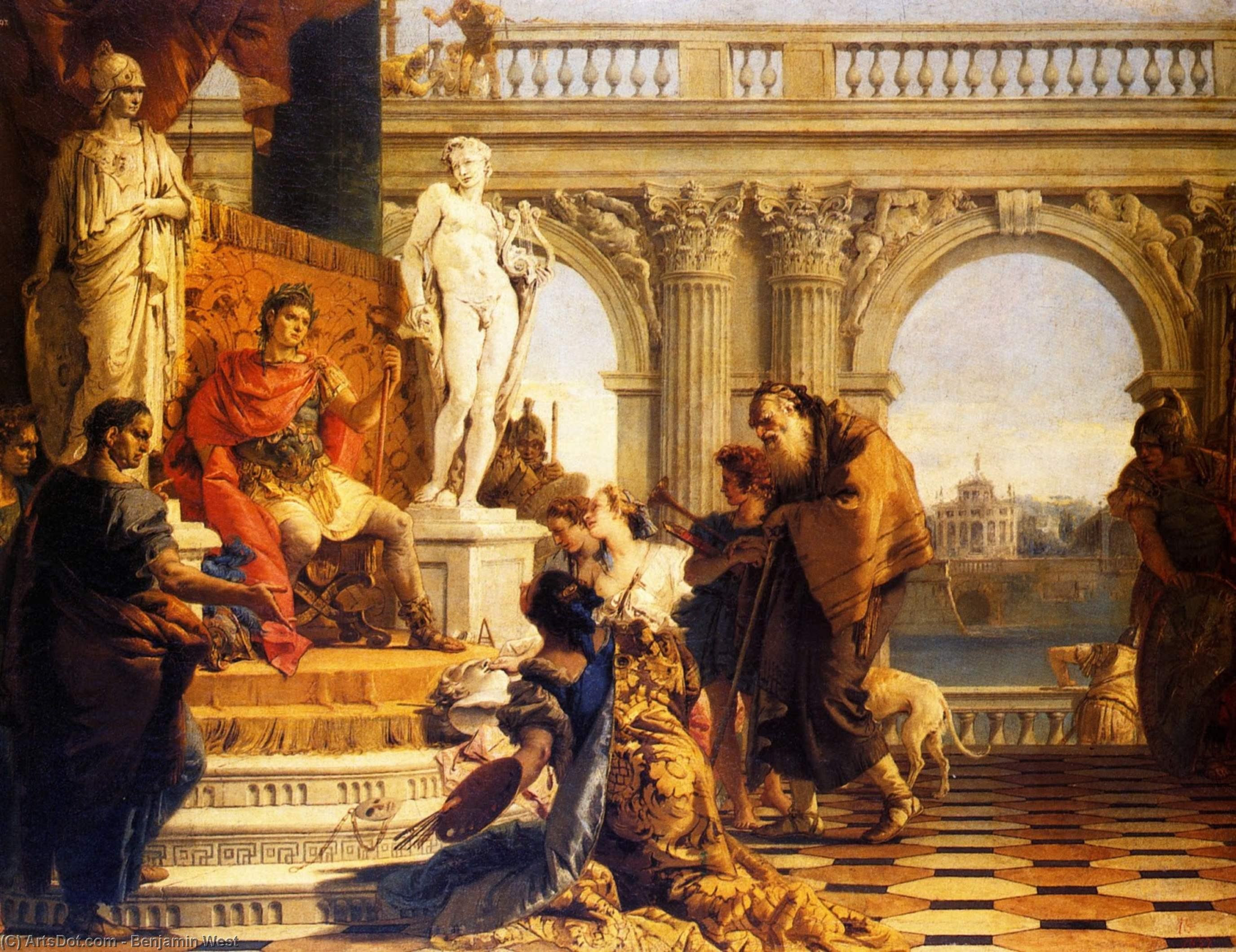 Wikioo.org - The Encyclopedia of Fine Arts - Painting, Artwork by Benjamin West - Mercury and Argus