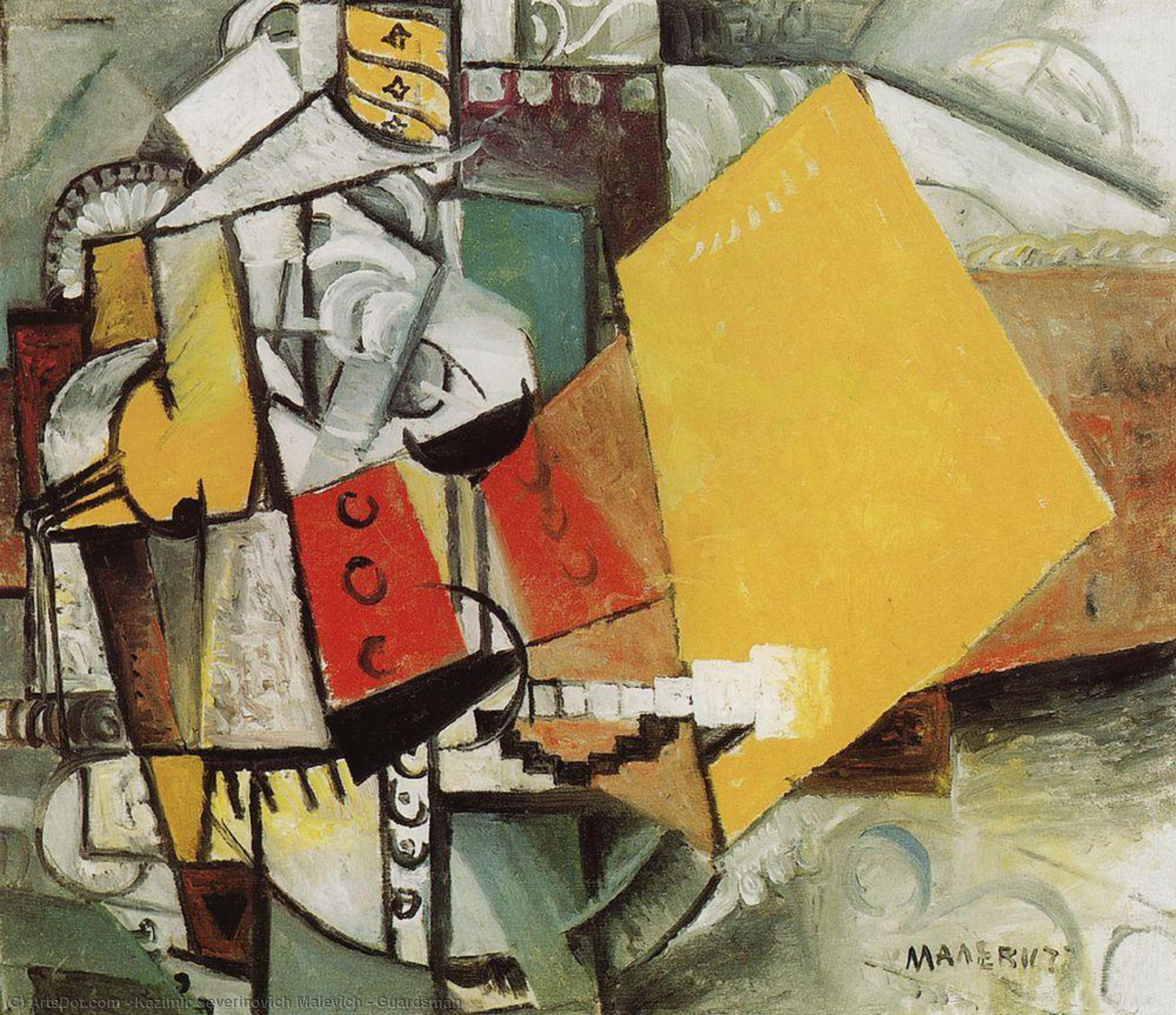 Wikioo.org - The Encyclopedia of Fine Arts - Painting, Artwork by Kazimir Severinovich Malevich - Guardsman